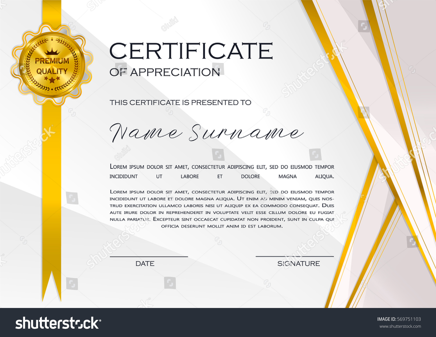 Qualification certificate appreciation design elegant luxury stock qualification certificate of appreciation design elegant luxury and modern pattern best quality award template alramifo Image collections