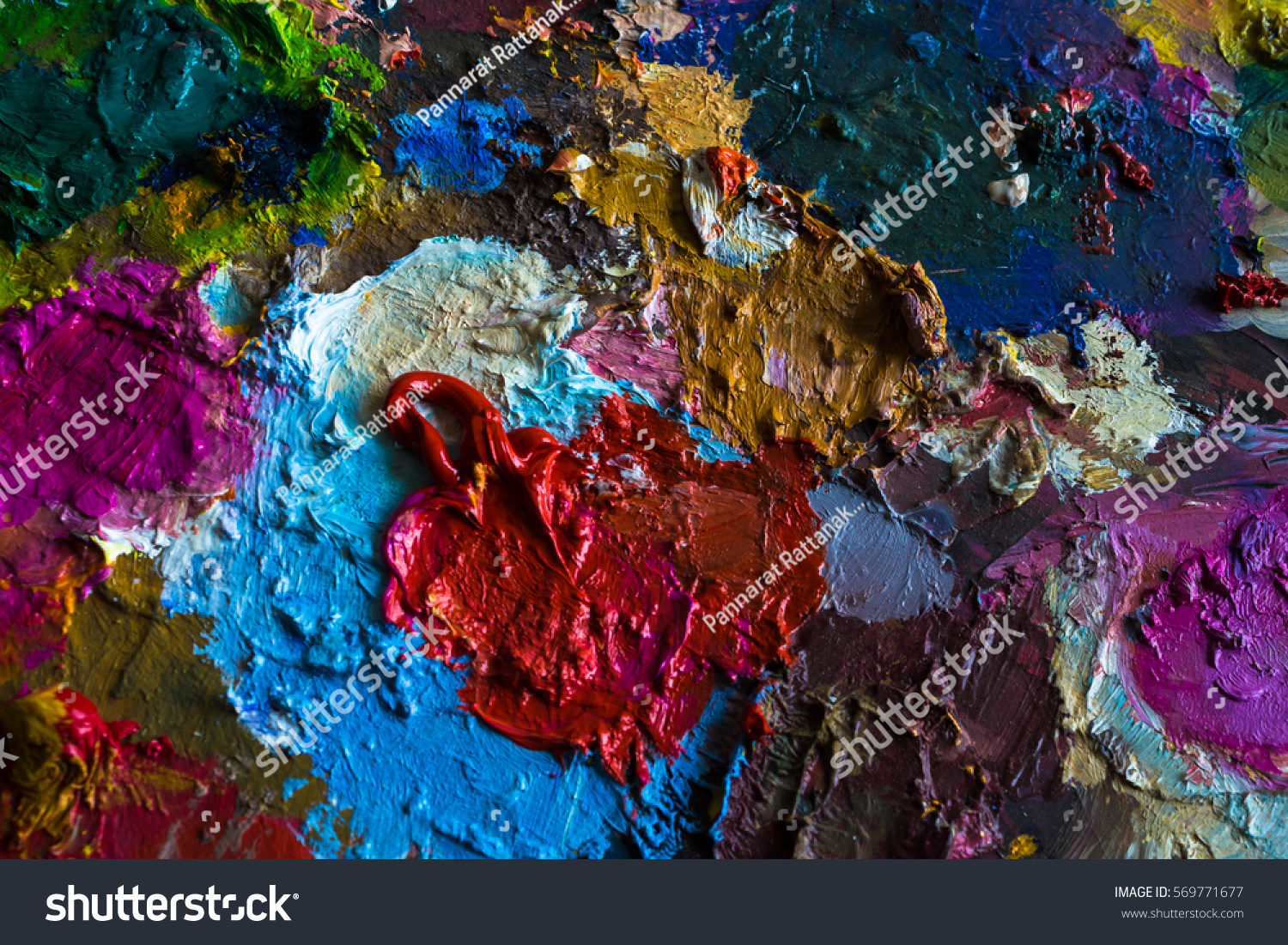 Abstract colorful oil acrylic texture background stock for Oil or acrylic