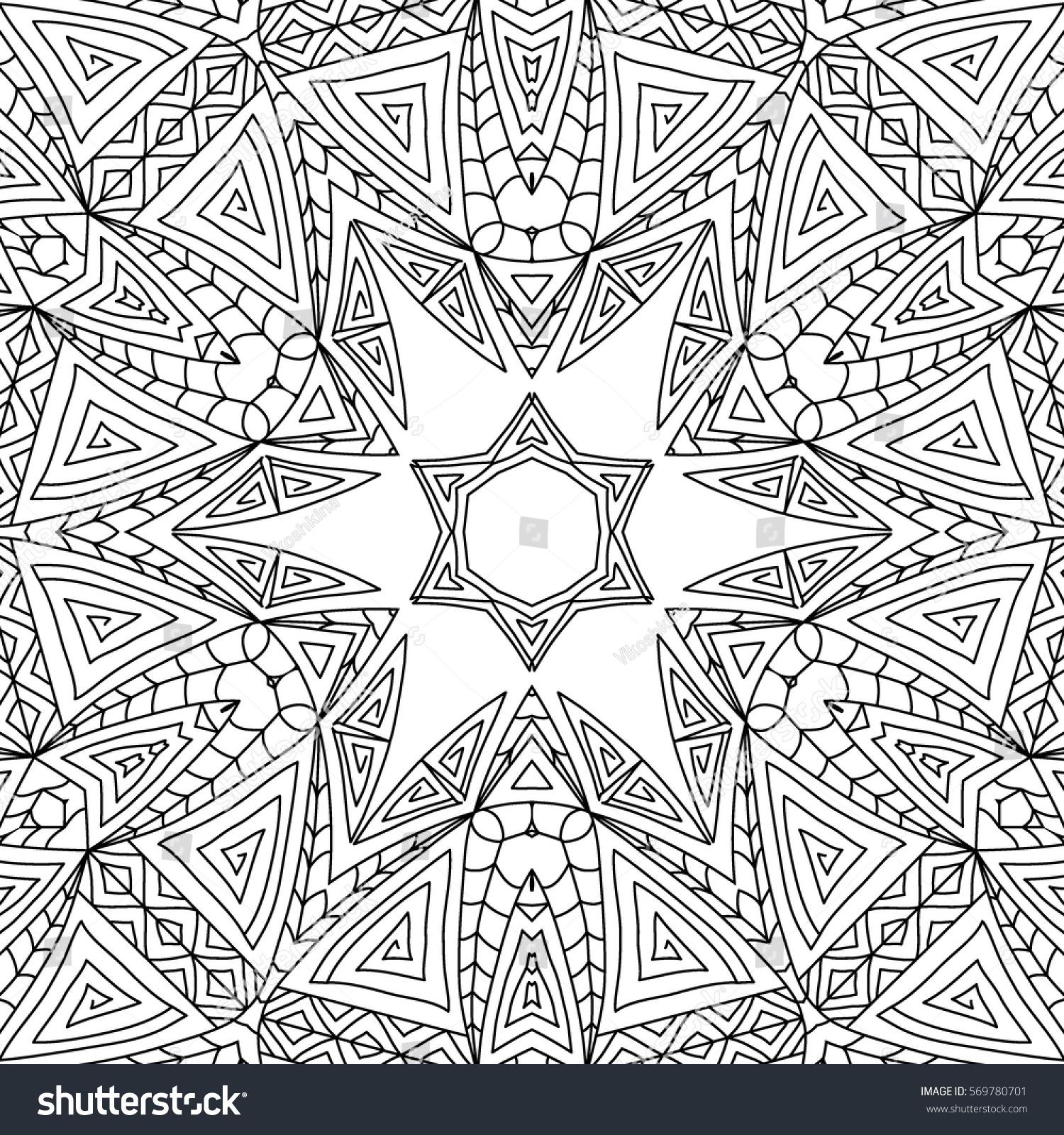 adult coloring book mandala ornament for textile fabric wallpaper - Coloring Book Wallpaper