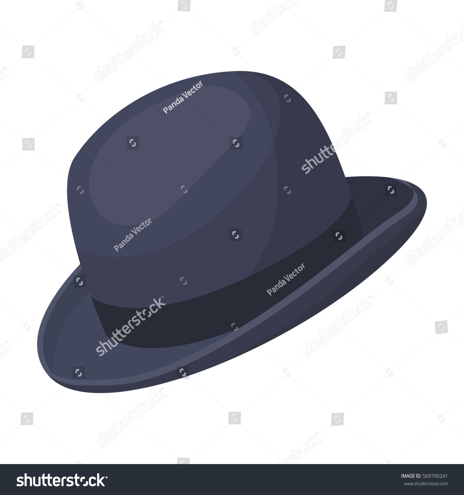 7b6655ea2af02 Bowler hat icon in cartoon style isolated on white background ...