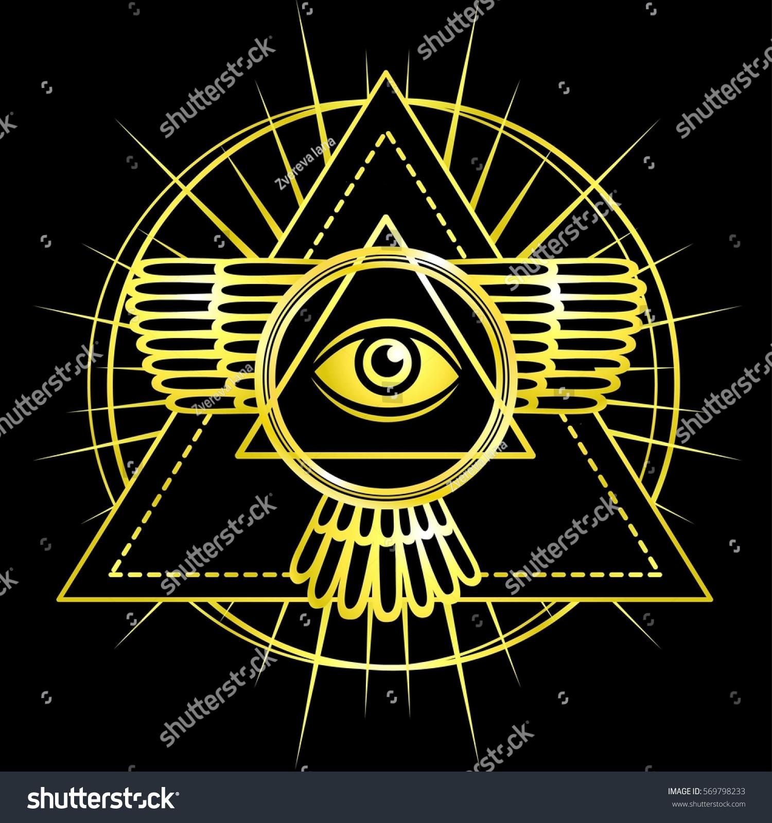 Eye providence all seeing eye inside stock vector 569798233 all seeing eye inside triangle pyramid esoteric symbol sacred geometry buycottarizona Image collections