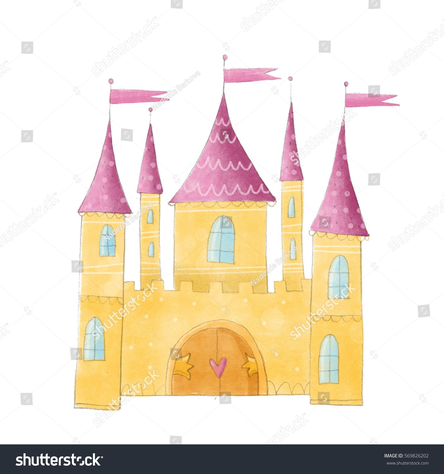 castle cute illustration stock illustration 569826202 - shutterstock