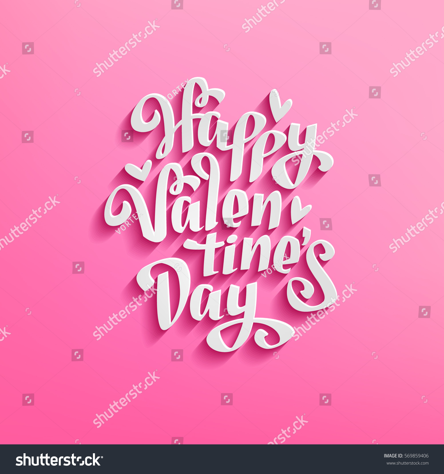 Happy valentines day minimalistic design on stock vector 569859406 happy valentines day minimalistic design on pink background template for greeting card invitation and kristyandbryce Choice Image