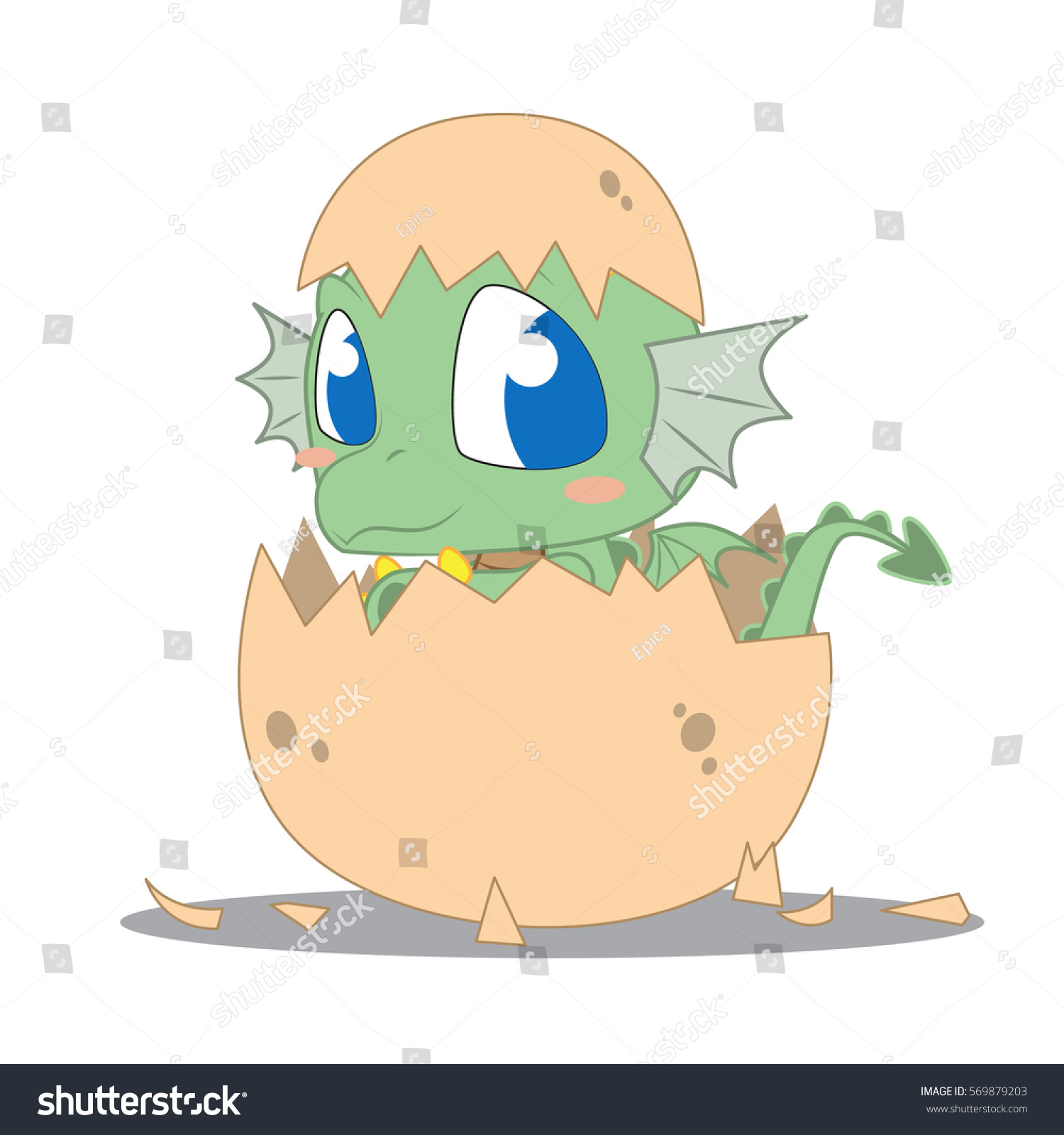 how to draw a baby dragon in a egg