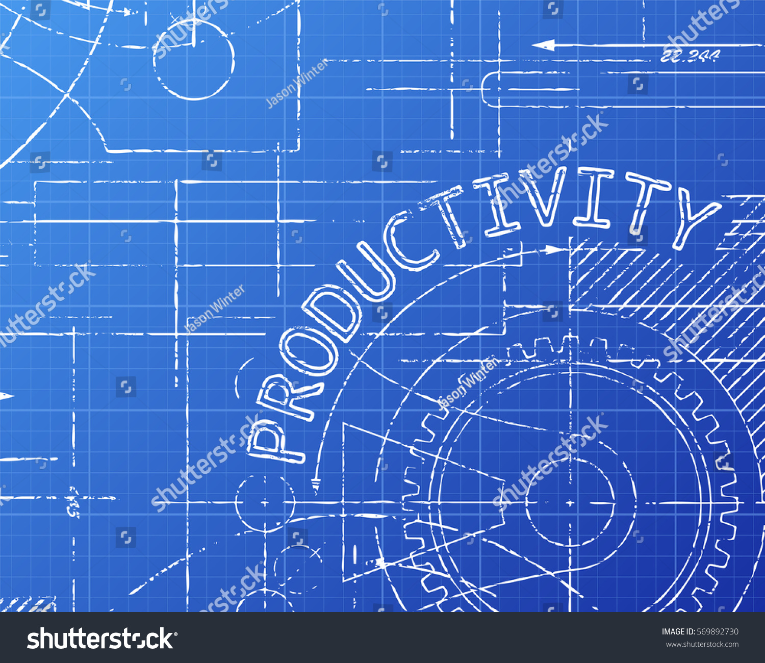Productivity word on machine blueprint background stock illustration productivity word on machine blueprint background stock illustration 569892730 shutterstock malvernweather Images