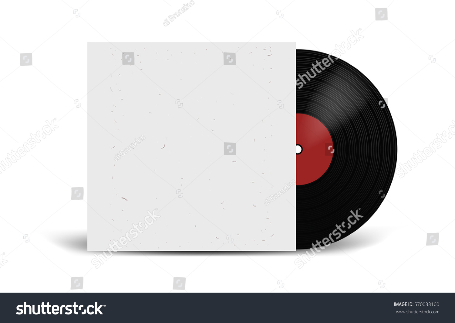 realistic vinyl record cover mockup disco stock vector 570033100 shutterstock. Black Bedroom Furniture Sets. Home Design Ideas