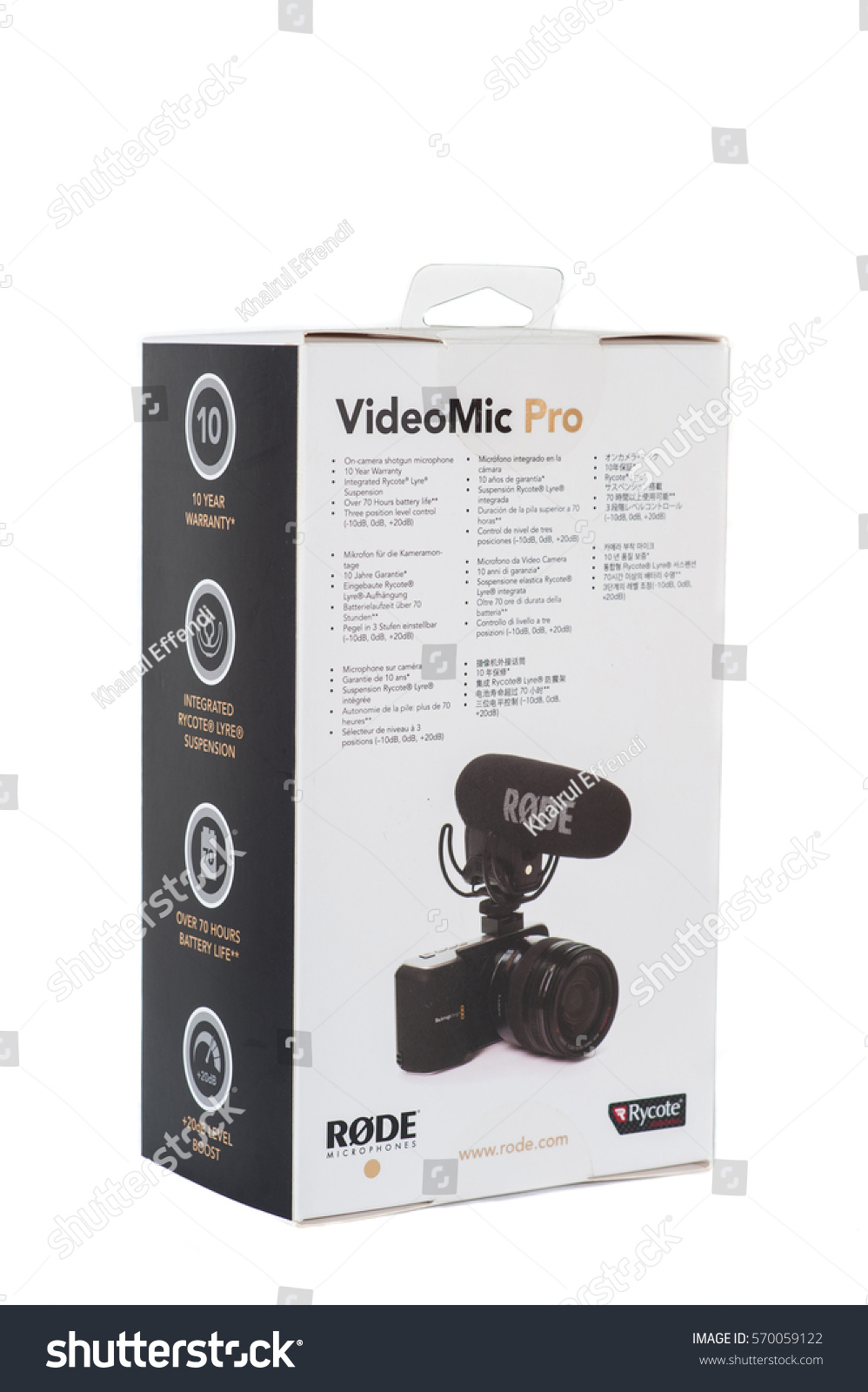 Rode Microphone Videomic Pro Rycote Kuala Lumpur Malaysia January 31 2017 Stock Photo Edit Now With Box On