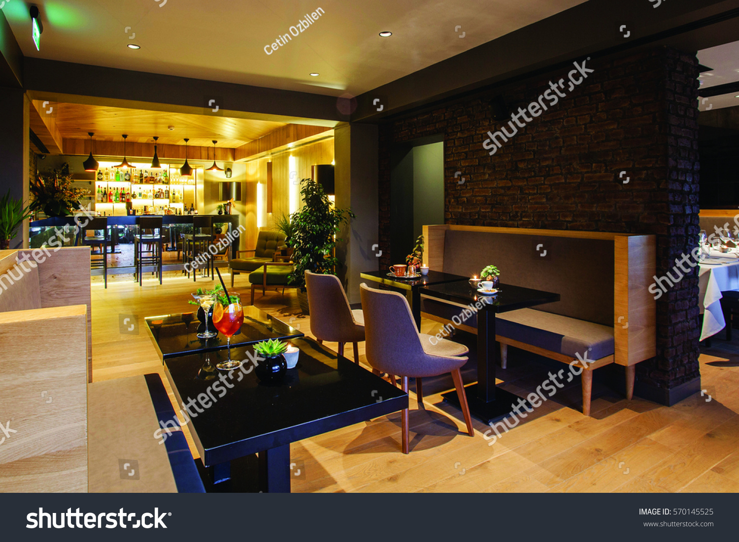 Interior Design Groups Part - 16: Paris, France - 12 January 2017 - The Interior Design Of A Restaurant And  Seating