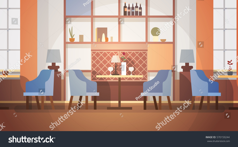 Modern cafe interior empty no people stock vector