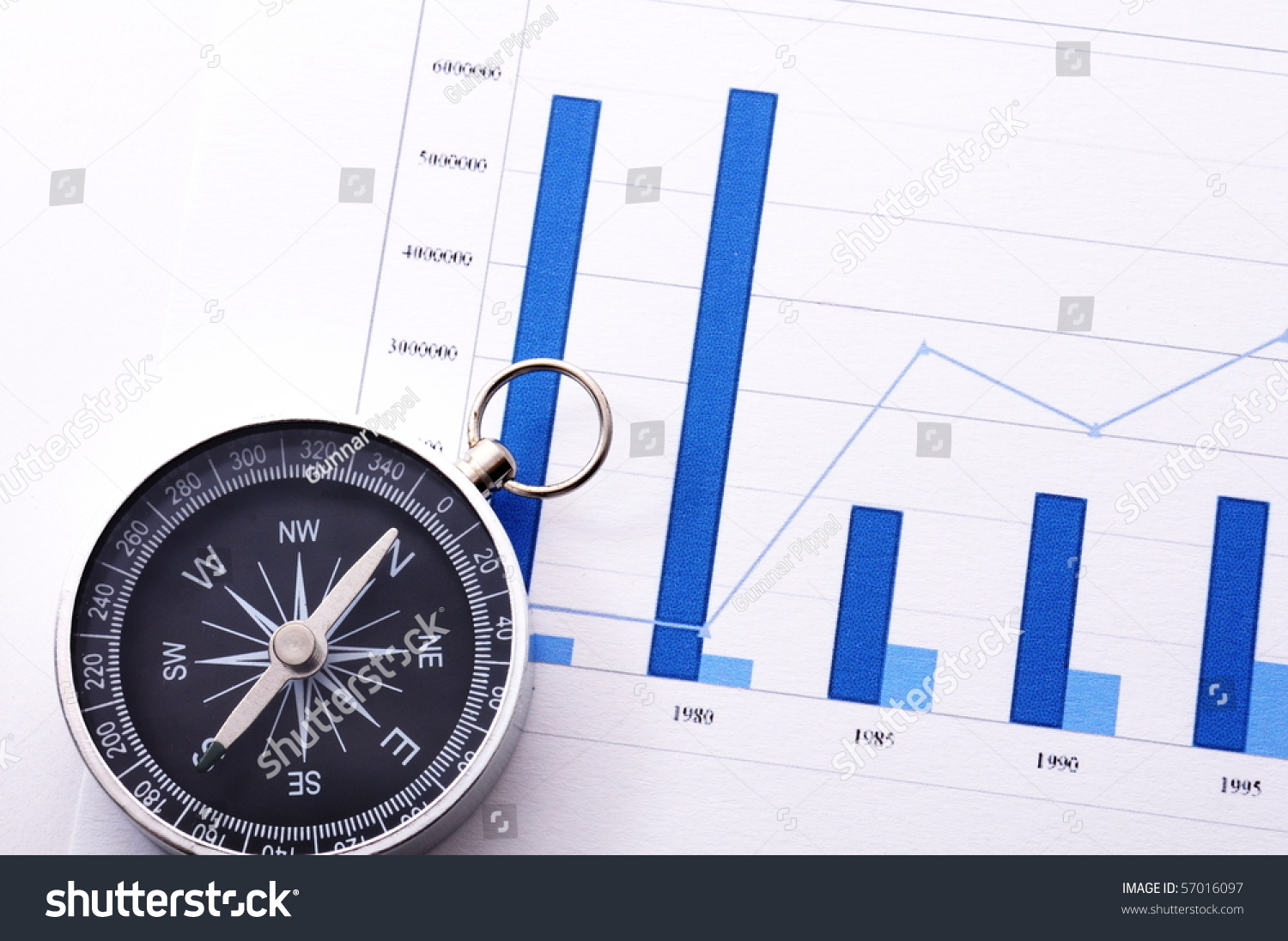Business concept compass diagram chart stock photo 57016097 business concept with compass and diagram or chart pooptronica