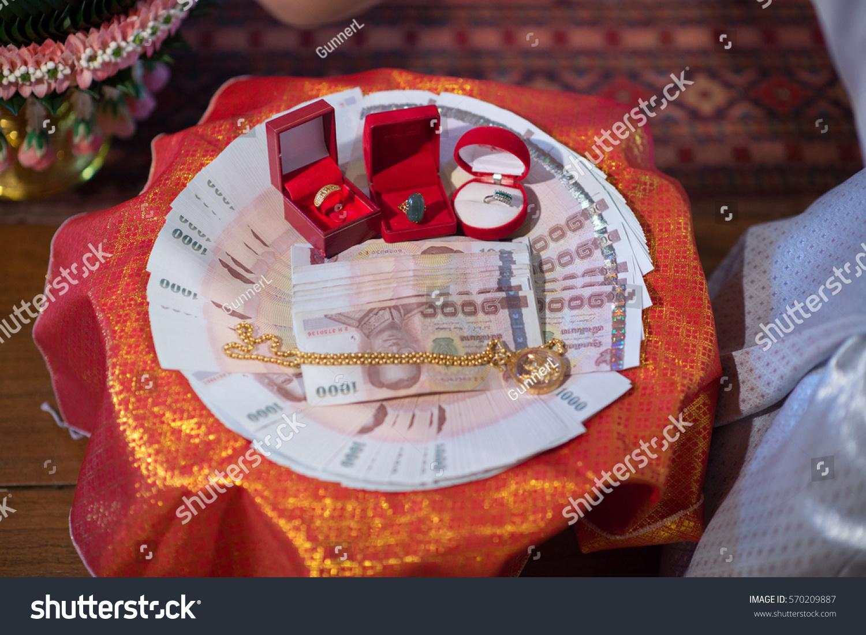 Royalty Free Thai Wedding Gift Engagement Gold 570209887 Stock