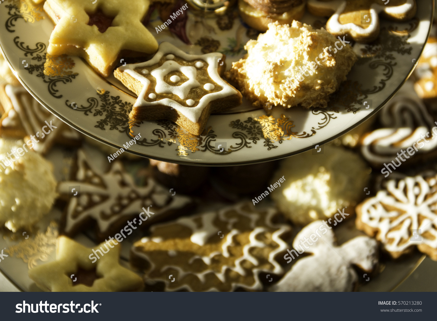 Traditional Czech Christmas Cookies Stock Photo Edit Now 570213280