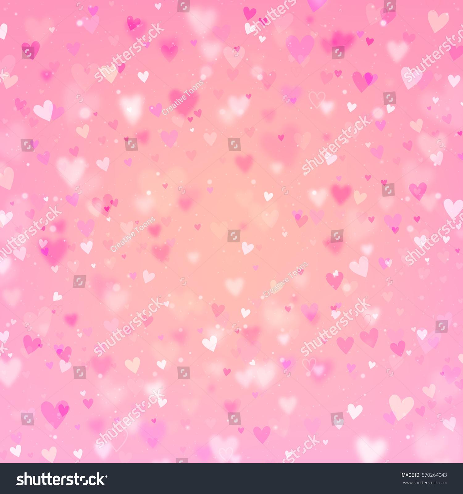 Pink Valentines Day Background Valentines Day Stock Illustration