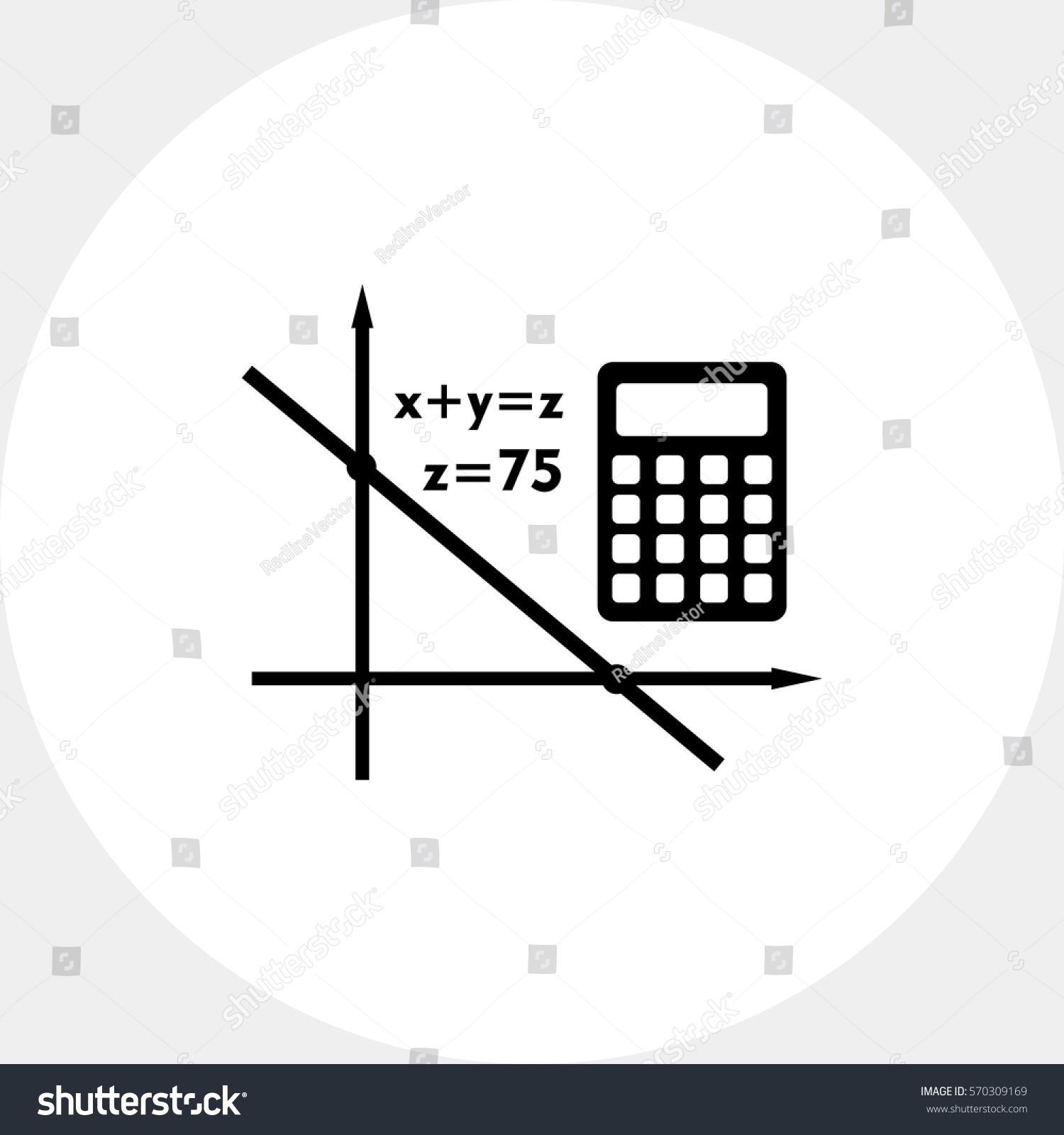 Algebra Simple Icon Stock Vector HD (Royalty Free) 570309169 ...