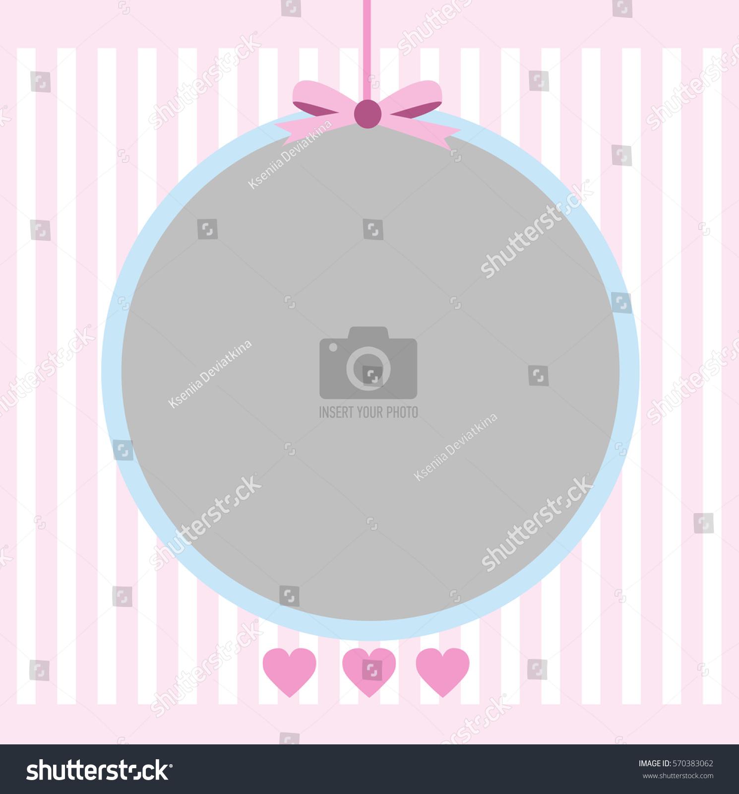 Photo Frame Postcard Little Girl Background Stock Vector (Royalty ...