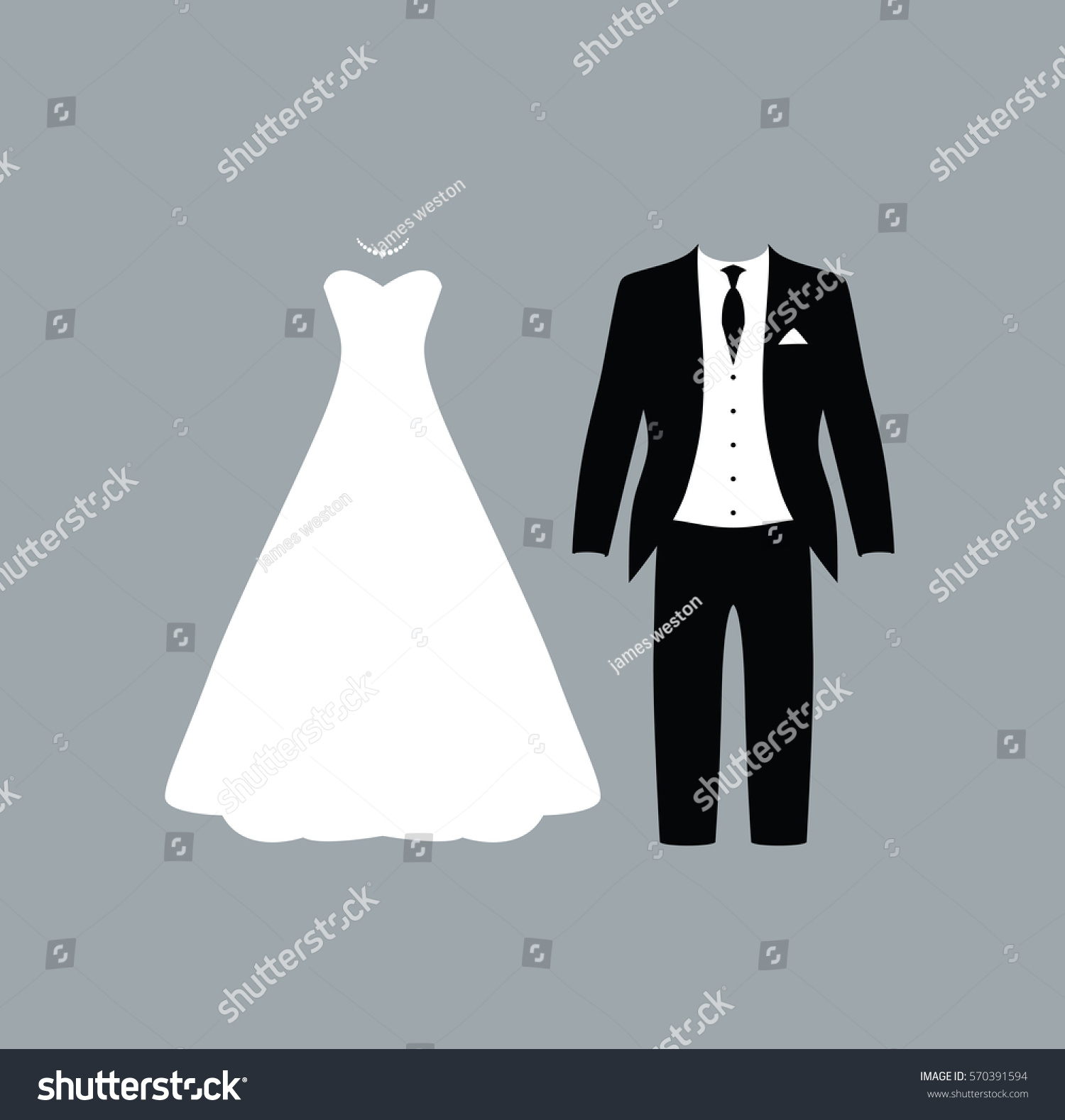 Wedding Couple Icons Stock Vector (2018) 570391594 - Shutterstock