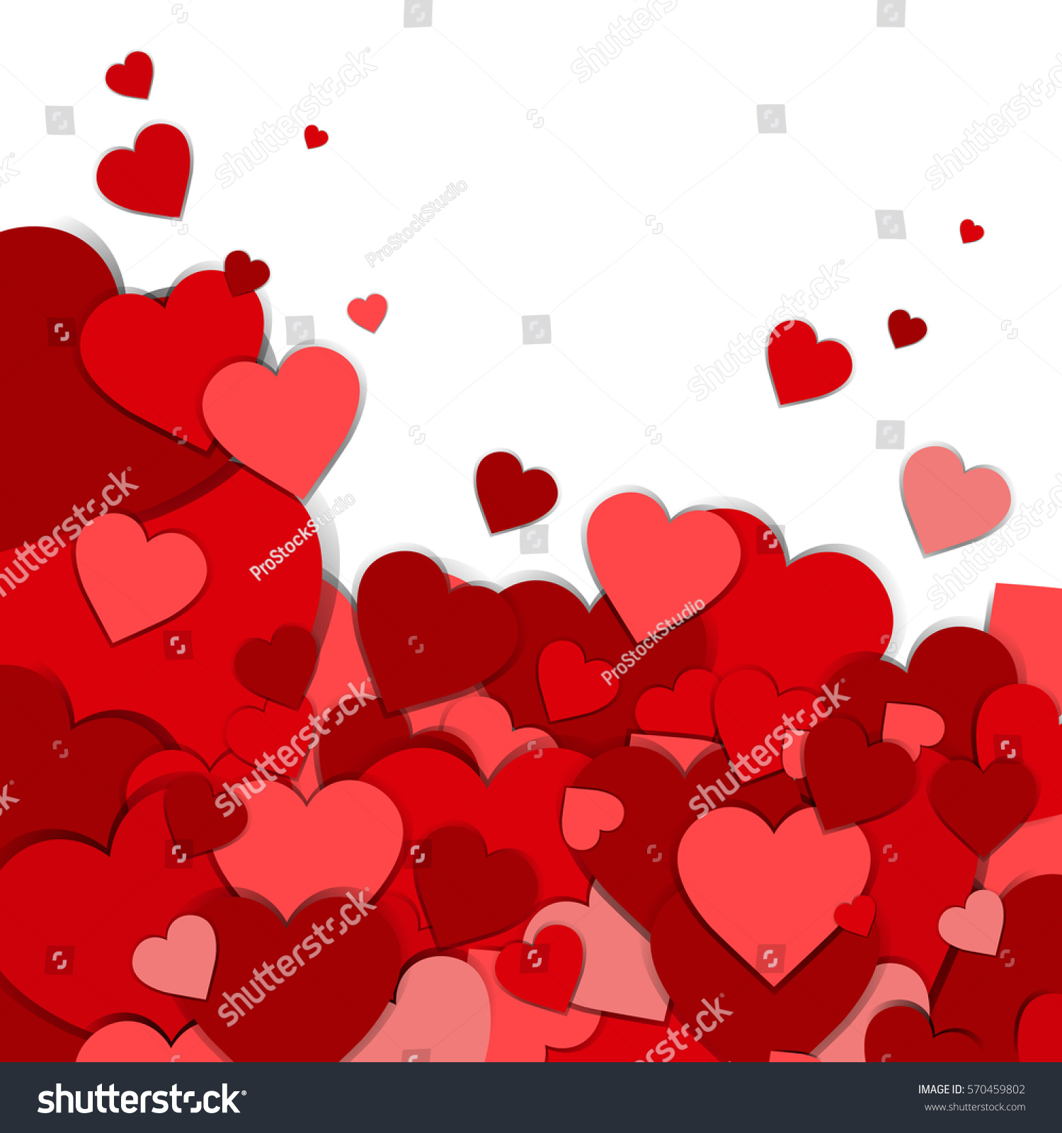 Valentine Day Gift Card Holiday Love Stock Vector 570459802   Shutterstock