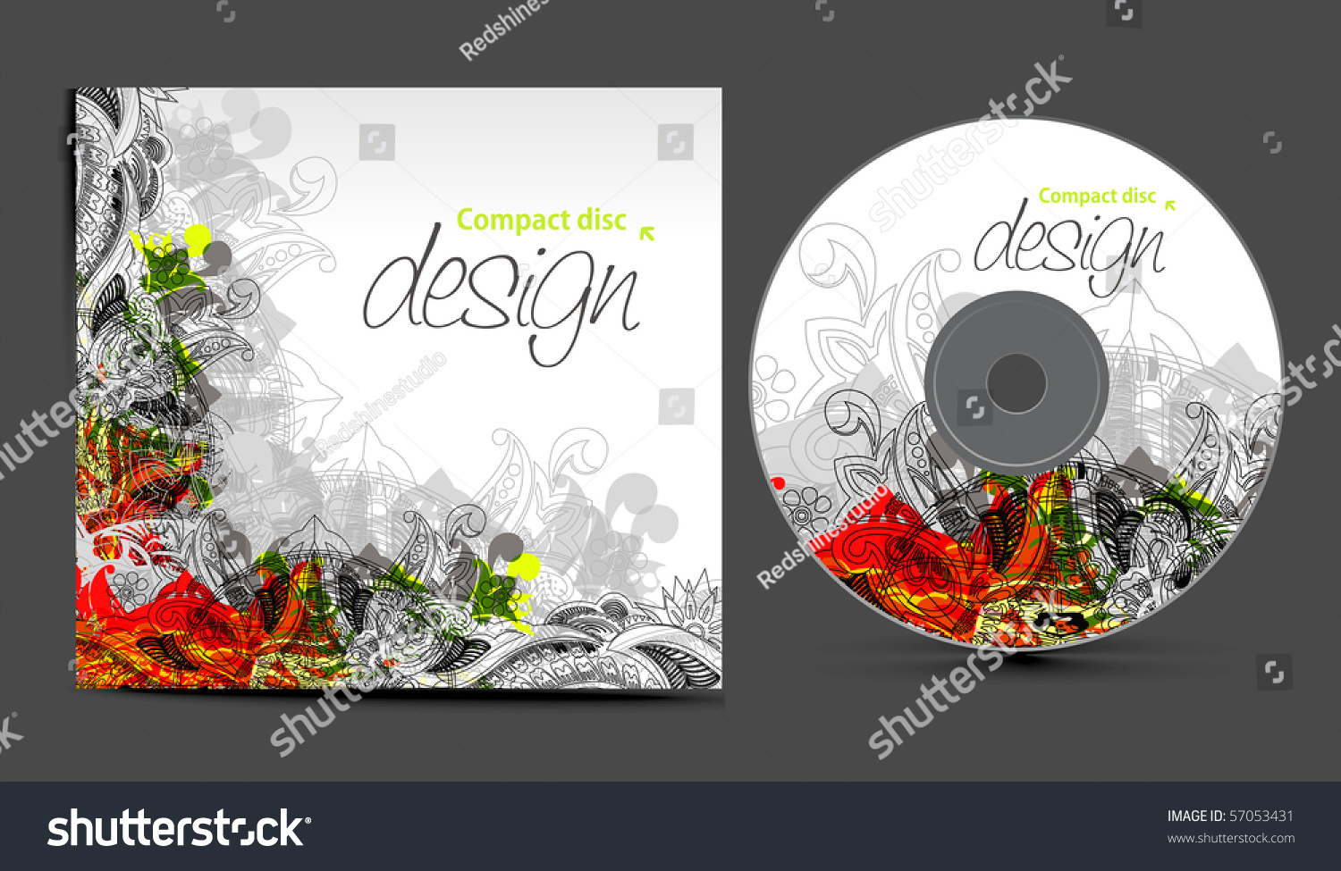 vector cd cover design template copy stock vector 57053431 shutterstock. Black Bedroom Furniture Sets. Home Design Ideas