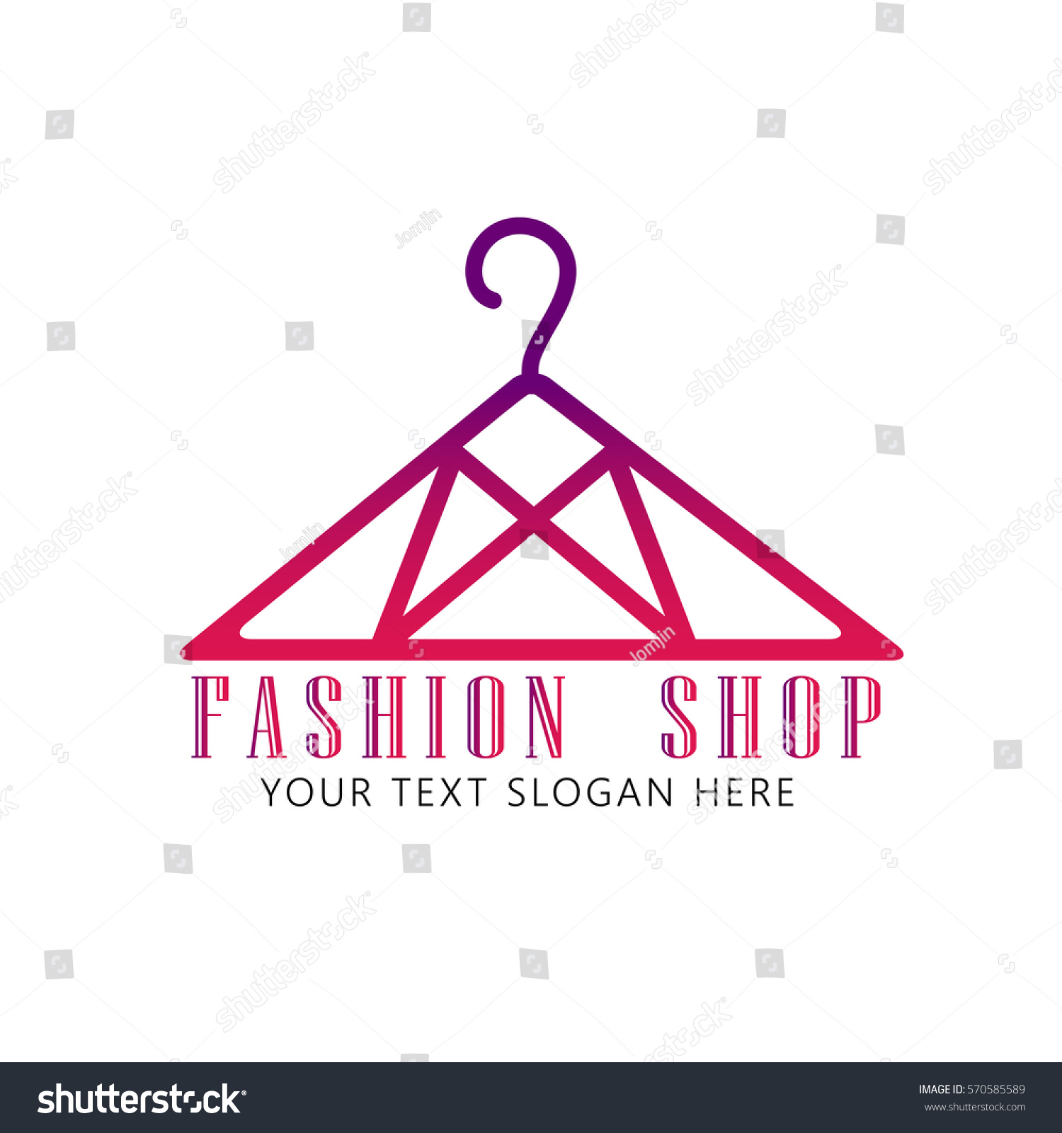 Fashion shop logo pink clothes hanger stock vector 570585589 fashion shop logo pink clothes hanger logo design vector buycottarizona