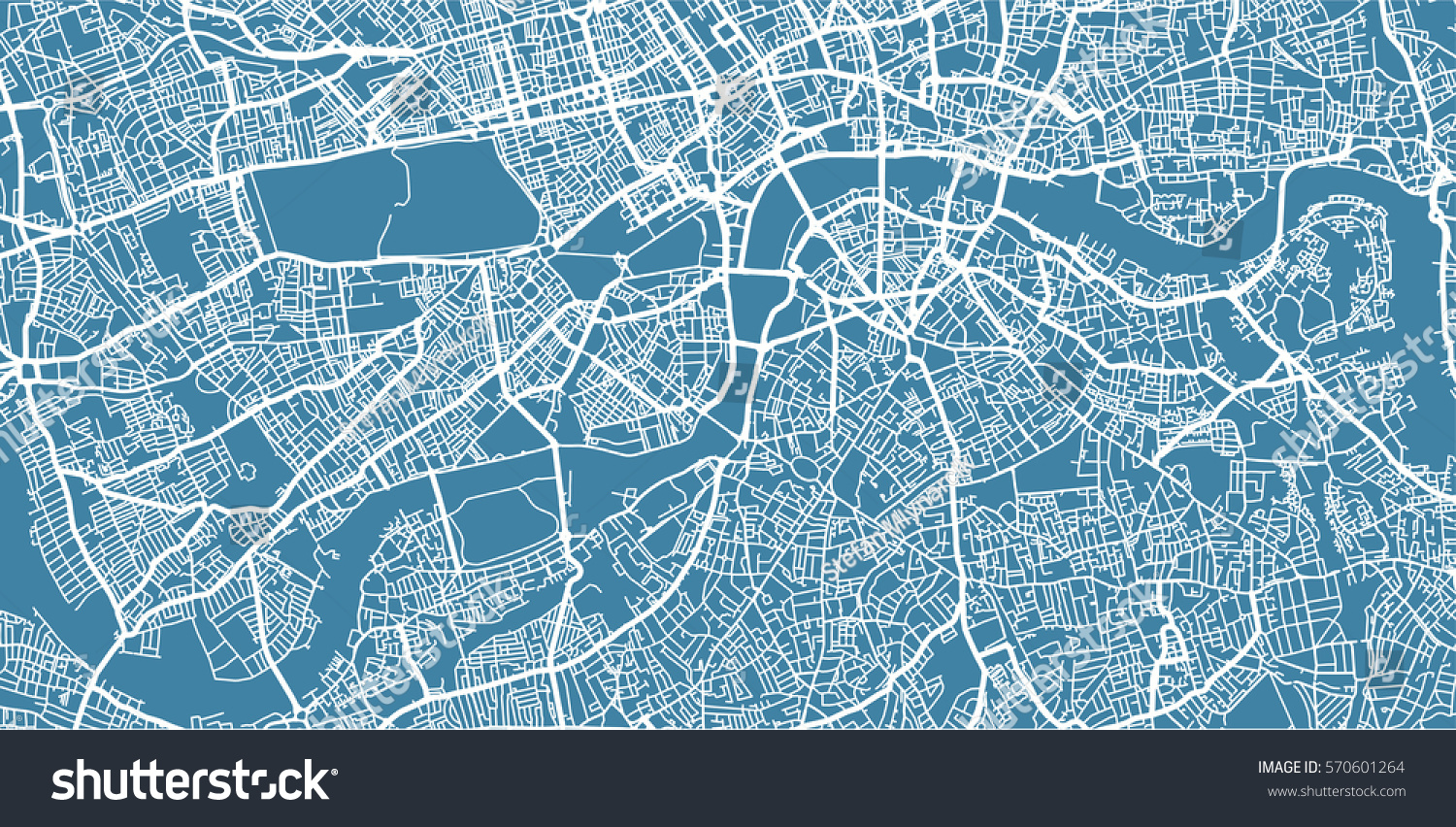 London Free Map.Vector Map Center London Uk Stock Vector Royalty Free 570601264