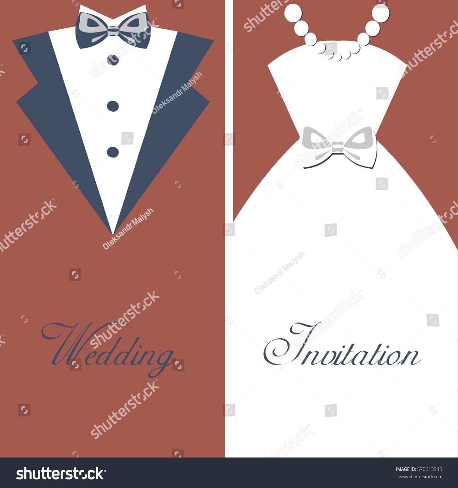 Wedding Invitation Vintage Design Elements Designers Stock Vector ...