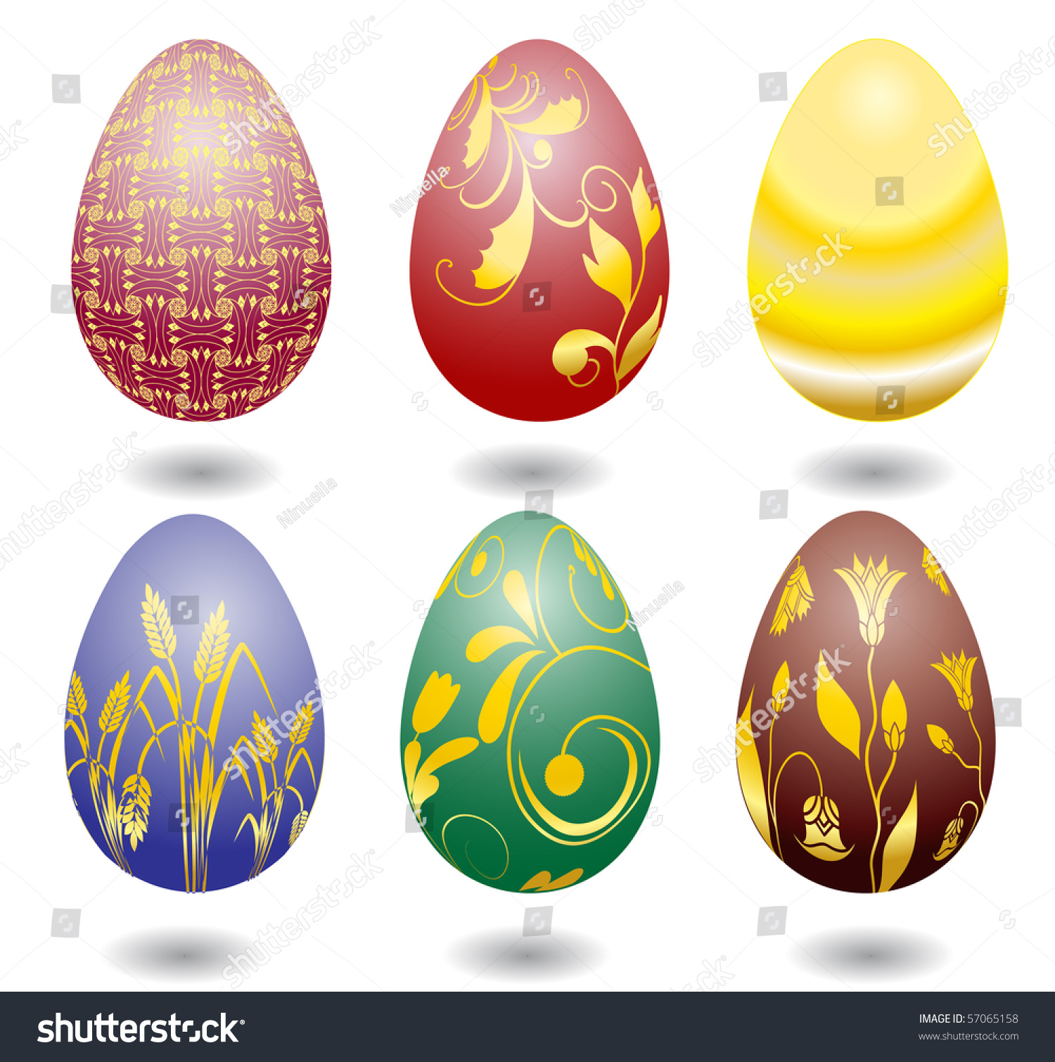 Six Color Easter Eggs