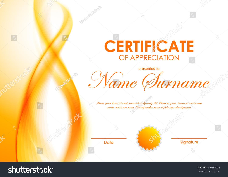 Certificate Appreciation Template Orange Transparent Wavy Stock Vector Royalty Free 570658924,80s Designer Imposters Body Spray