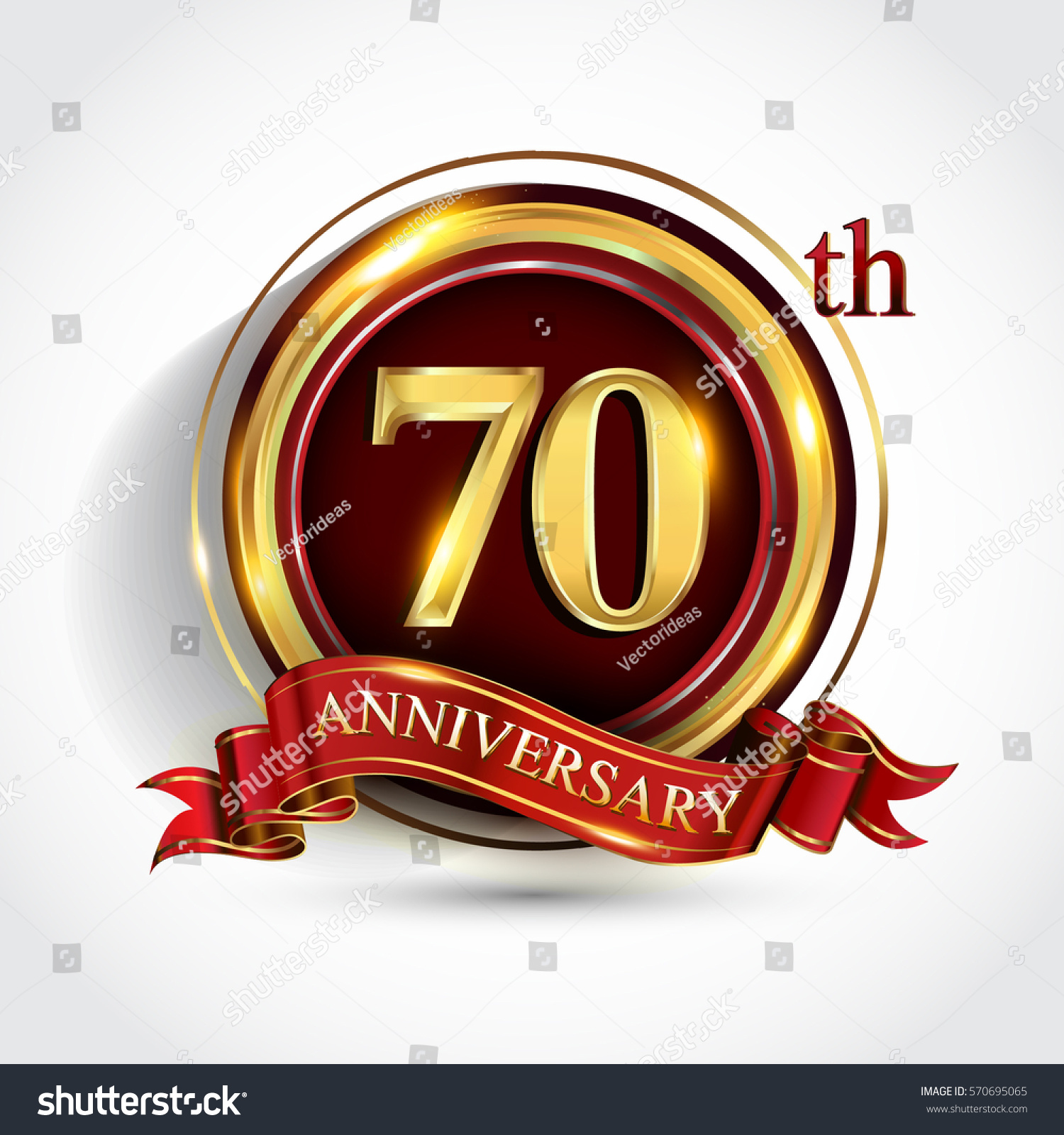 70th golden anniversary logo seventy years stock vector 570695065 70th golden anniversary logo seventy years birthday celebration with ring and red ribbon isolated on biocorpaavc