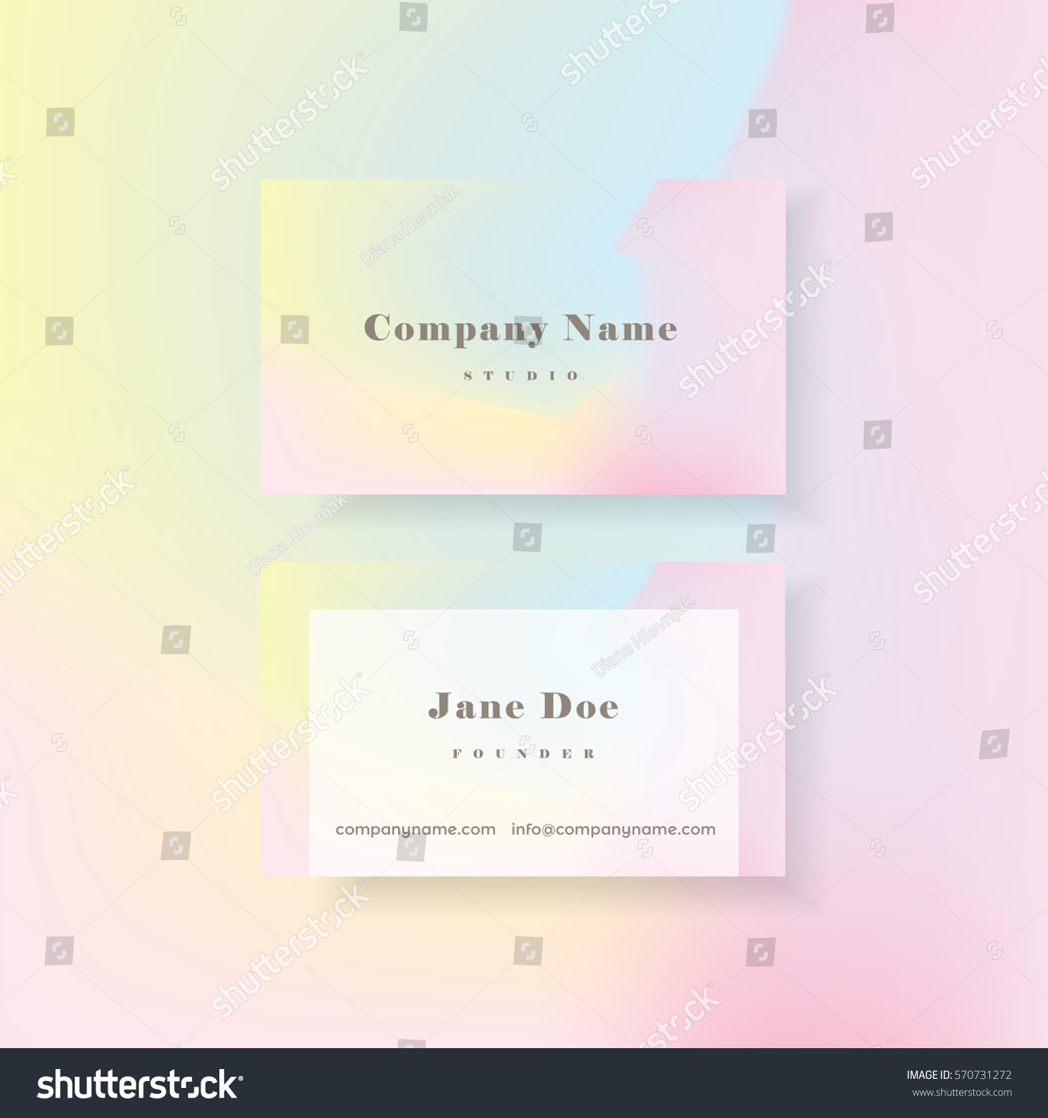 Feminine colorful vibrant holographic business card stock vector feminine colorful vibrant holographic business card template in minimal style magicingreecefo Image collections
