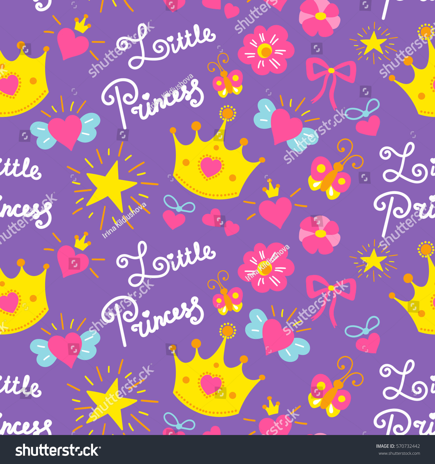 stock-vector-little-princess-pattern-vector-cute-girl -background-for-template-birthday-card-baby-shower-570732442.jpg