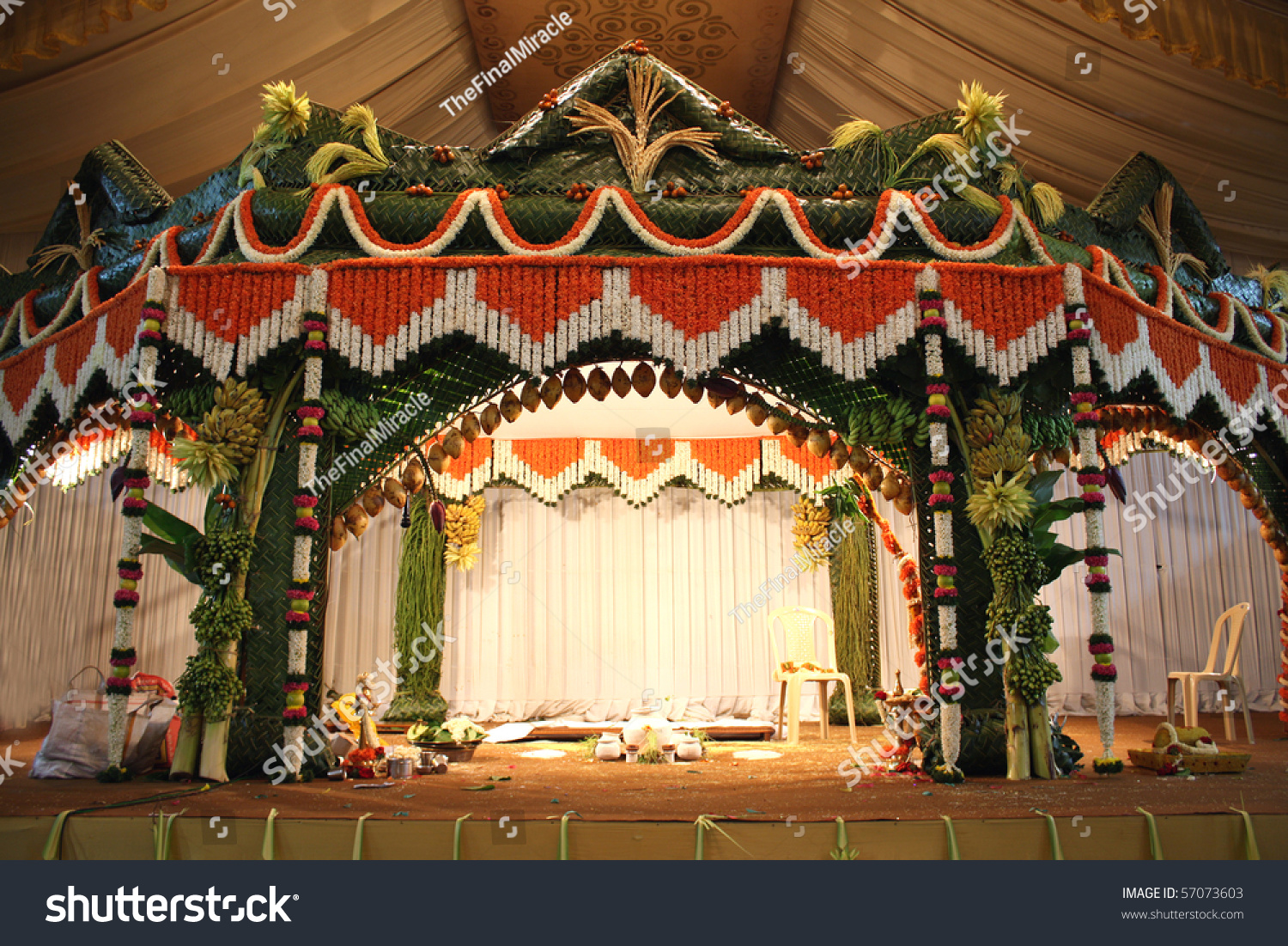Stage Traditional Decorated Hindu Wedding Stock Photo Edit Now