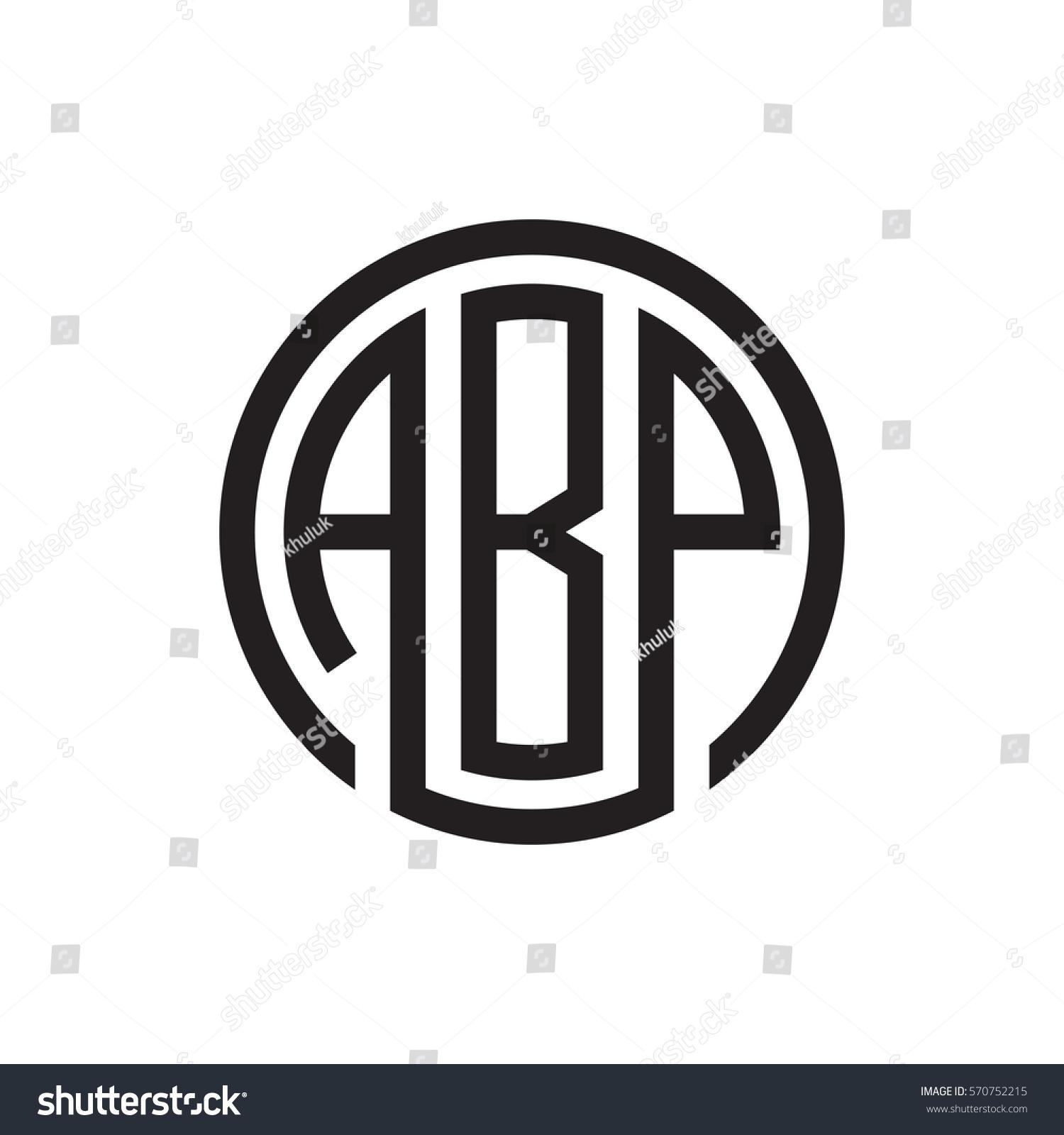 Initial Three Letter Logo Circle Black Stock Vector