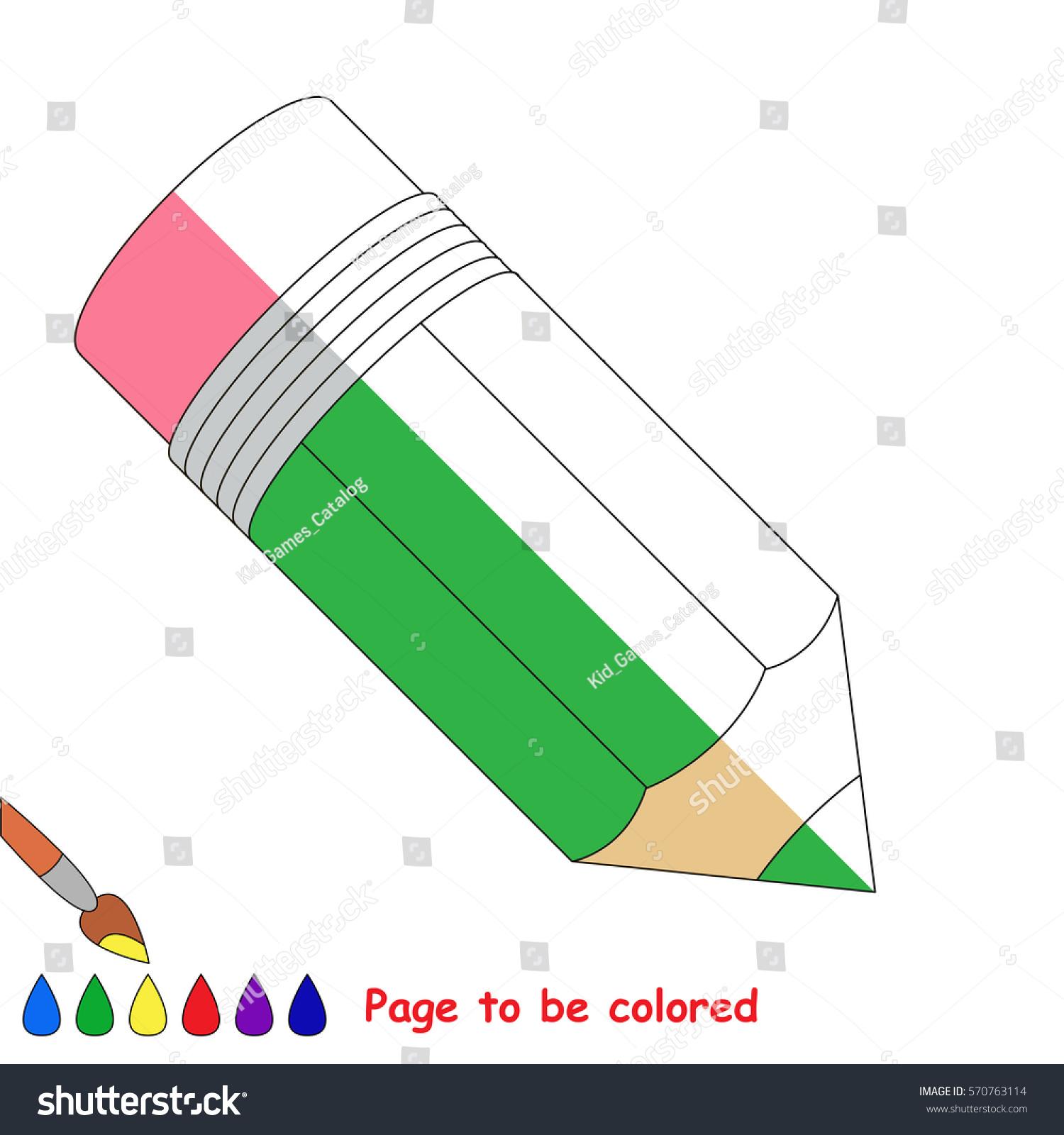 Pencil Coloring Book Educate Preschool Kids Stock Vector 570763114 ...