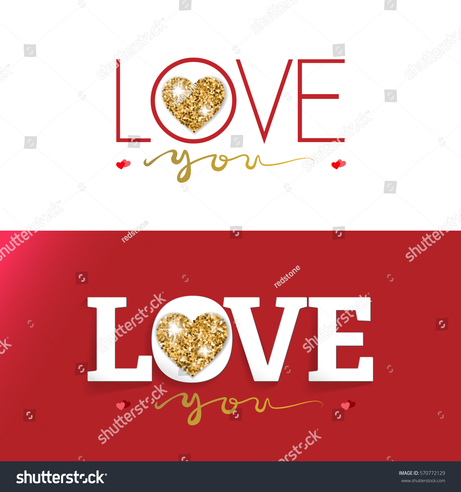 LOVE Happy Valentines Day Card Design Stock Vector (Royalty Free ...