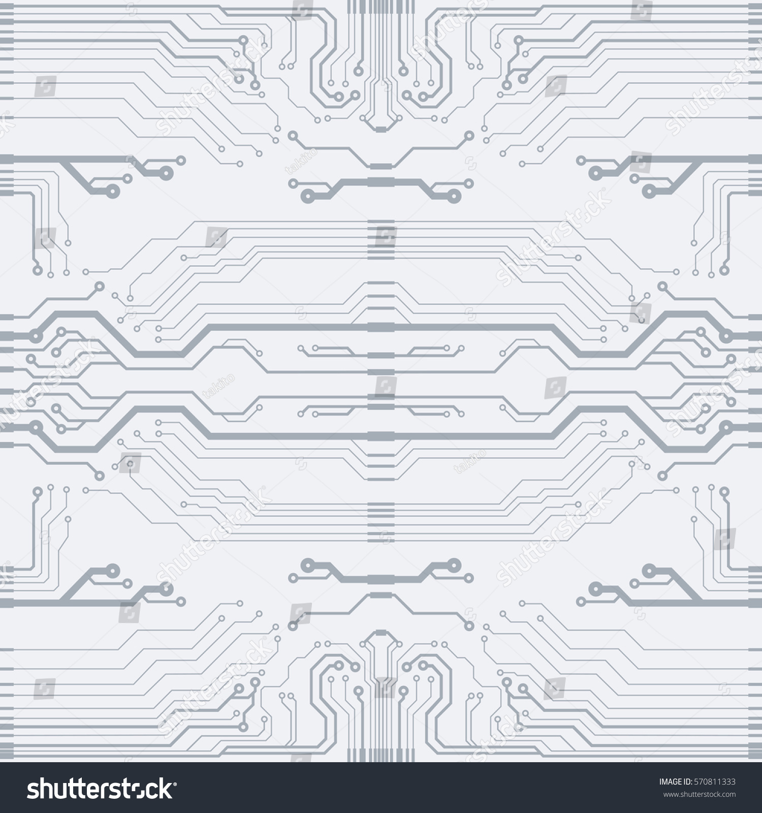 Vector Gray Circuit Board Illustration Eps Stock Royalty Flat