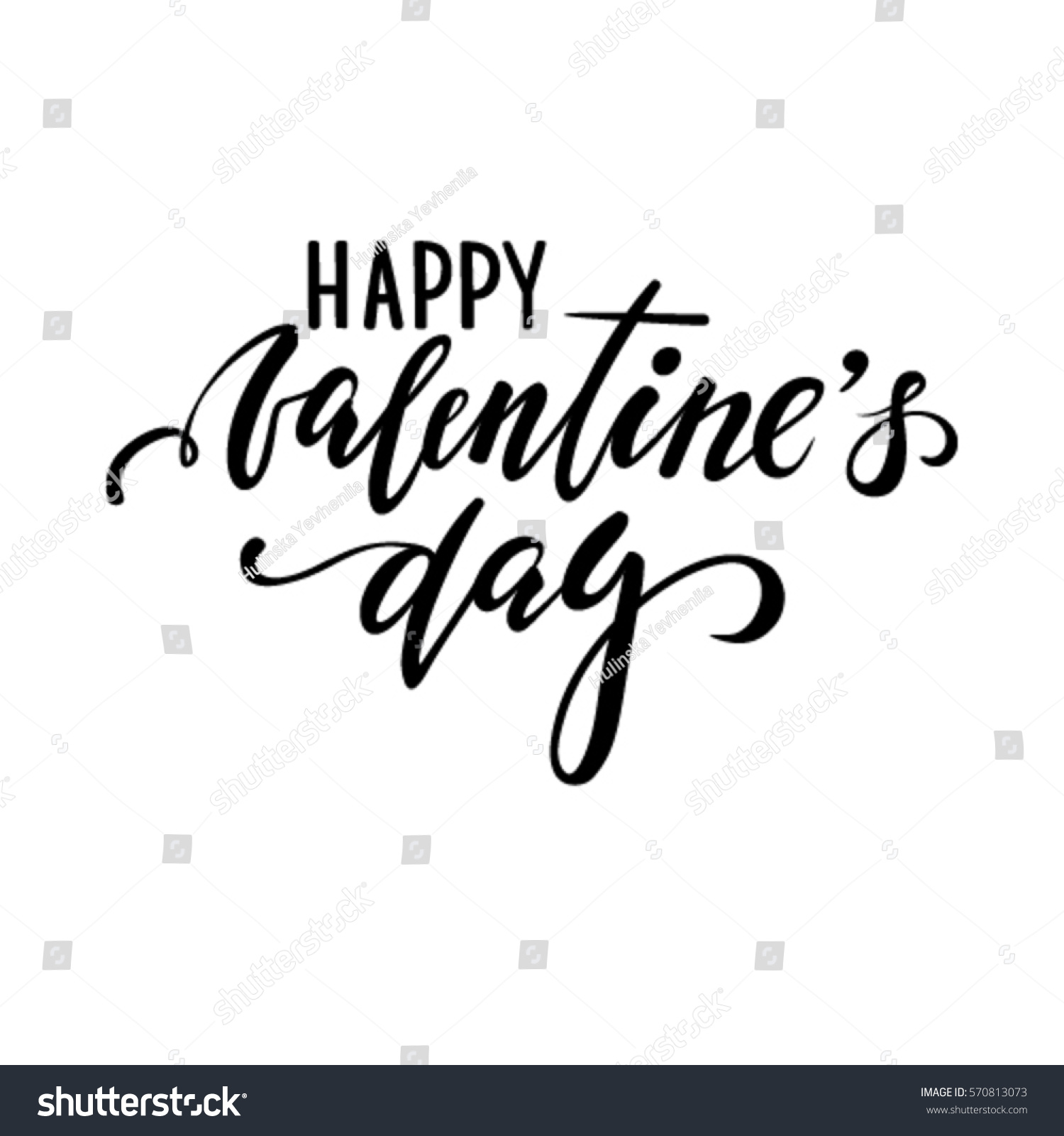 Happy Valentines Day Hand Drawn Creative Stock Vector Royalty Free