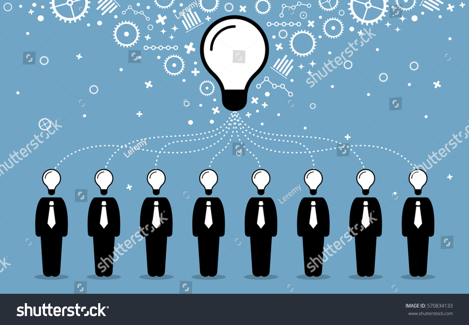 Vecteur clipart de main sur 201 cologie conscience image concept - Business People Combining Their Ideas Minds And Thoughts To Create A Bigger And Better