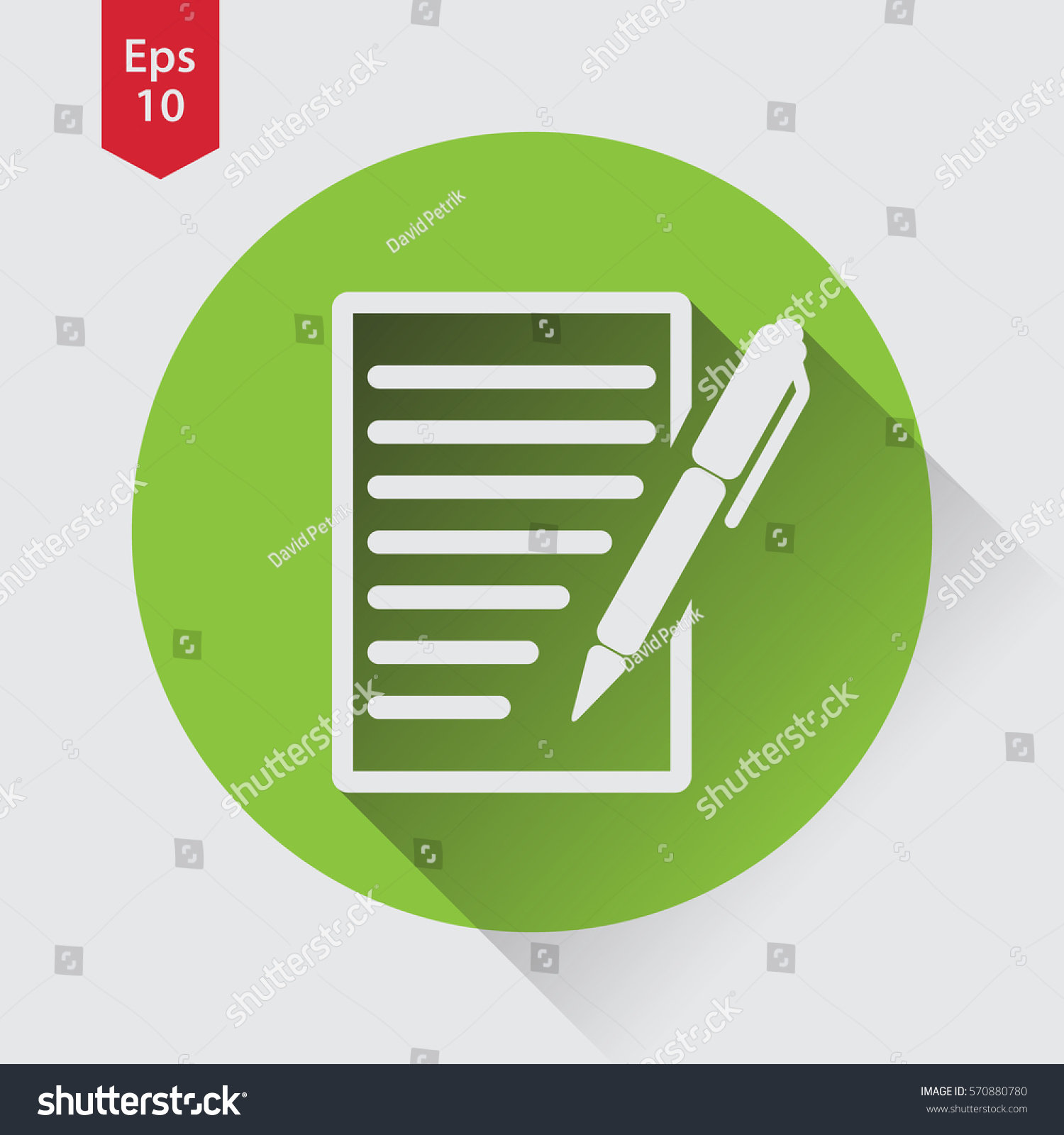 Notepad symbol simple flat icon paper stock vector 570880780 notepad symbol simple flat icon of paper and pen notebook with some text biocorpaavc Choice Image