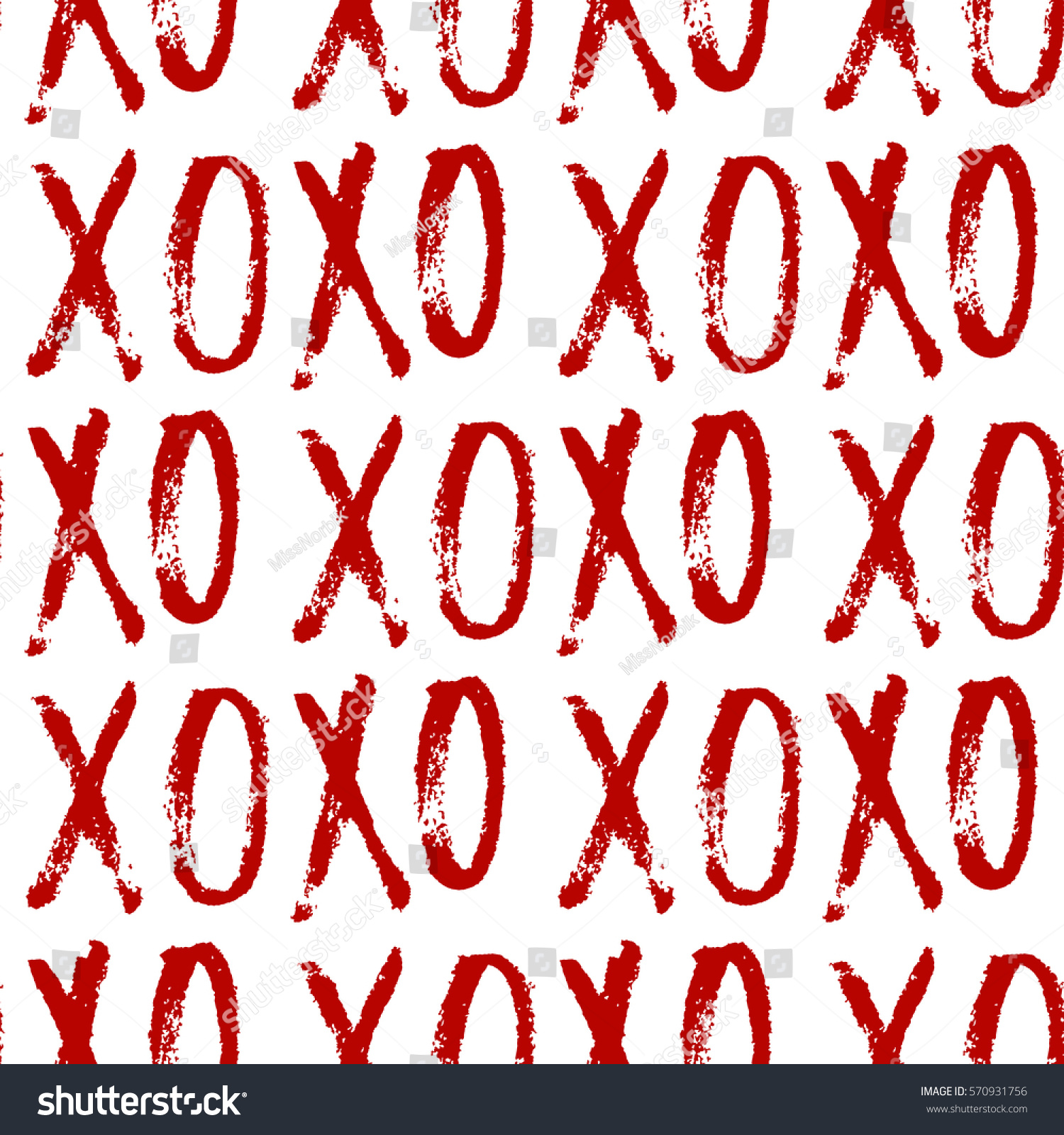 Vector Seamless Pattern Hand Drawn Word Stock Vector (Royalty Free ...