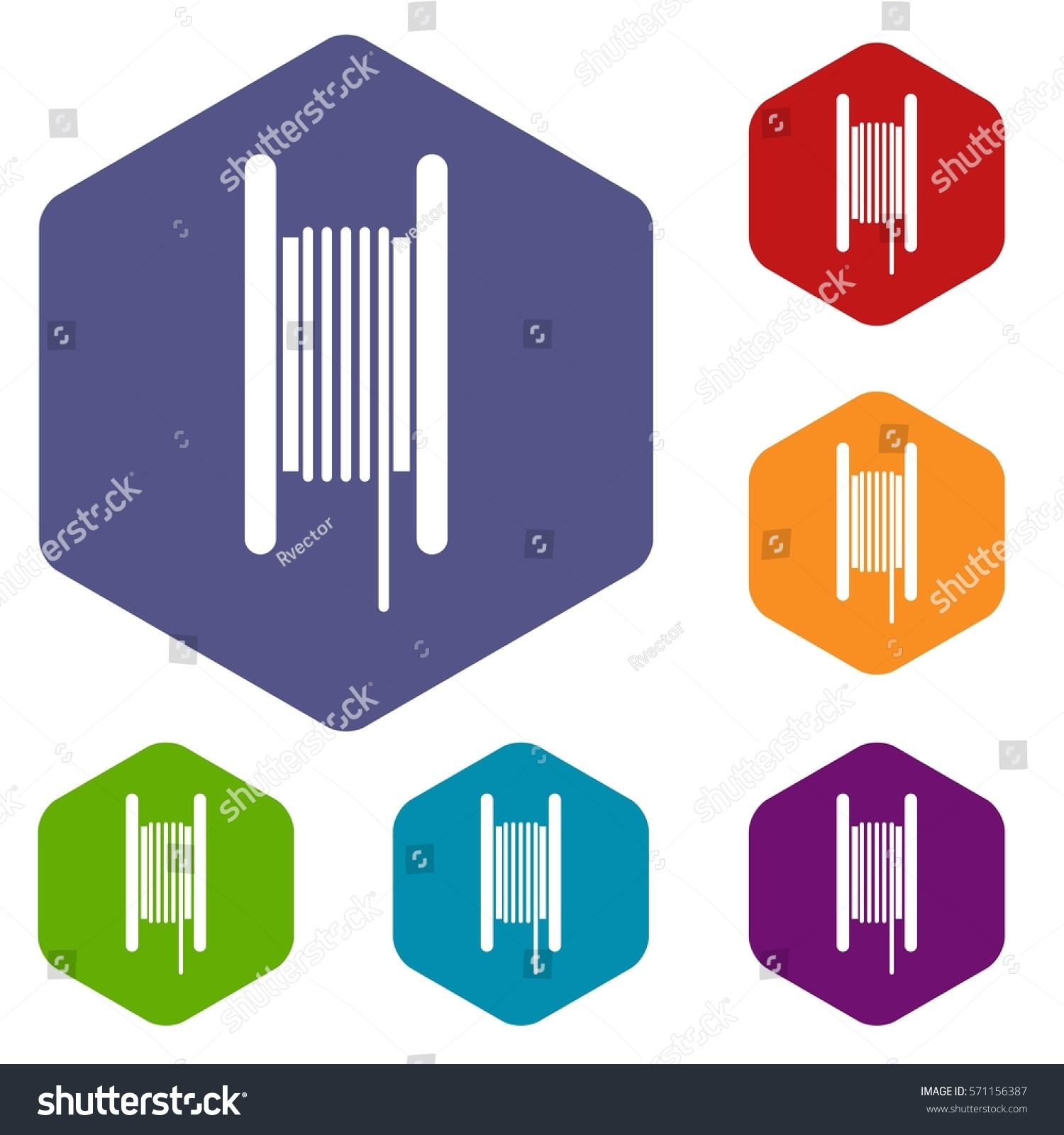 Electric Cable Coil Icons Set Rhombus Stock Vector Royalty Free Electrical Symbol Icon Isolated On A White Background In Different Colors
