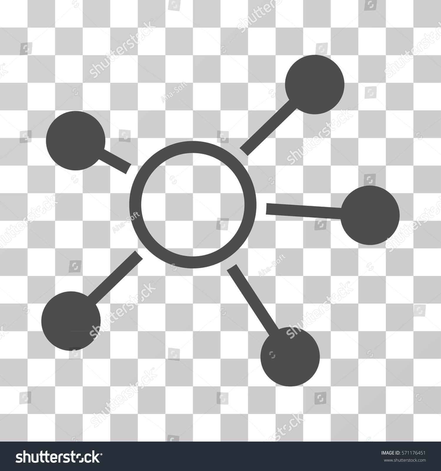 Connections Icon Vector Illustration Style Flat Stock Vector ...