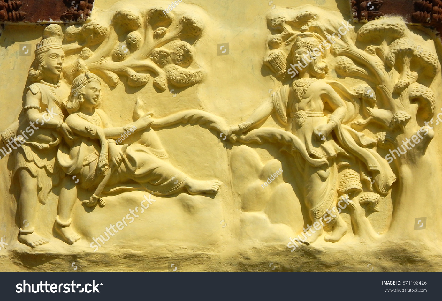 Hyderabadindiafebruary 3wall Art Hindu God Sri Stock Photo (Royalty ...