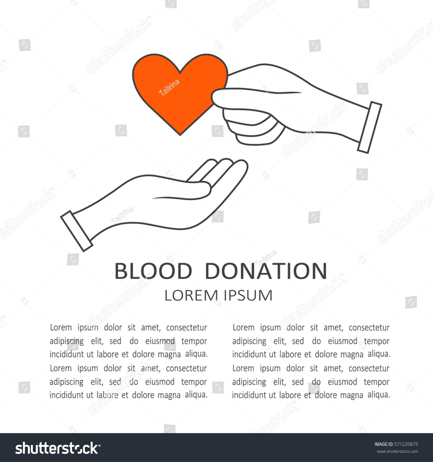 Symbol Charity Aid Donations Modern Flat Stock Vector Royalty Free