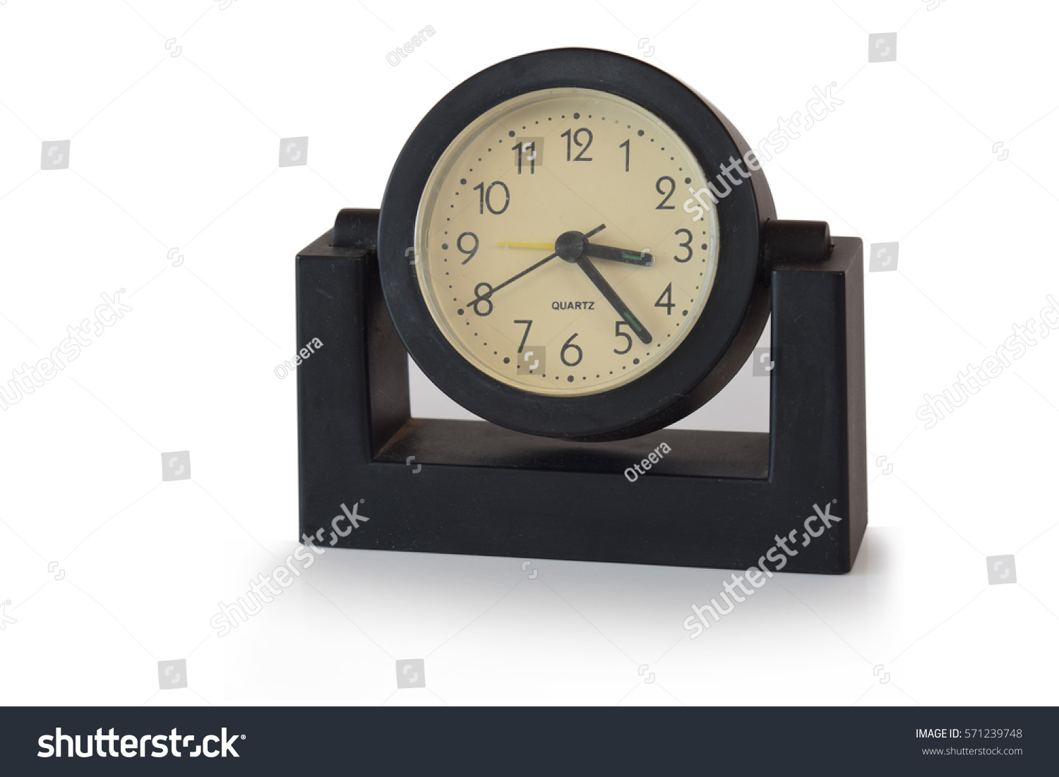 Desk Clock Modern Style Black On Stock Photo Edit Now 571239748