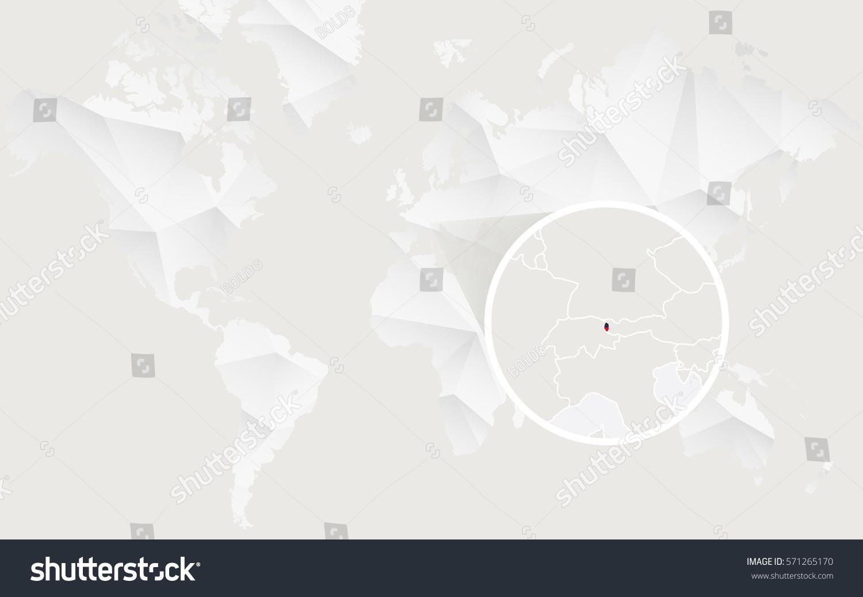 Liechtenstein Map Flag Contour On White Stock Vector 571265170