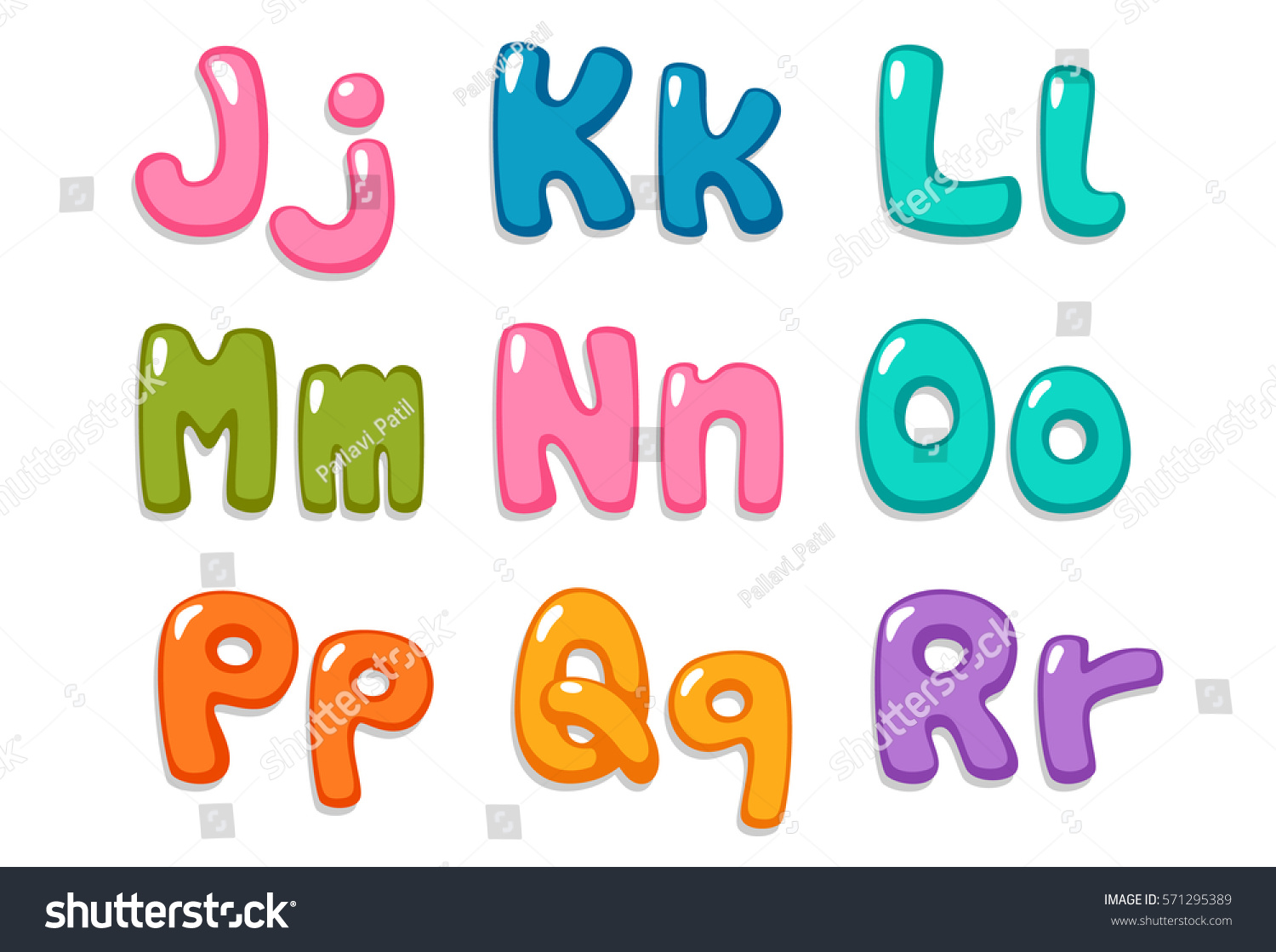 Candy Color Kid Font Part 2 Stock Vector 571295389 - Shutterstock
