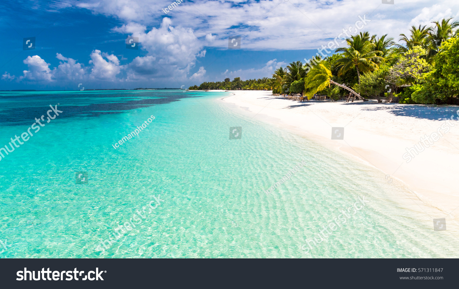 Tropical Island Beach Ambience Sound: Maldives Perfect Paradise Beach Tropical Island Stock