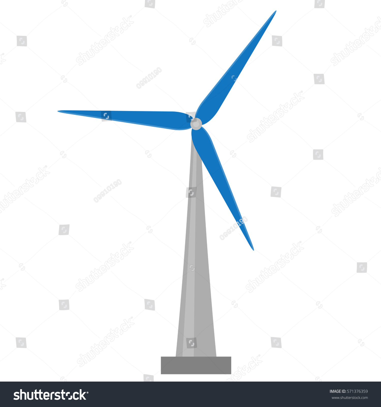 Wind Mill Vector Energy Power Turbine Stock Vector