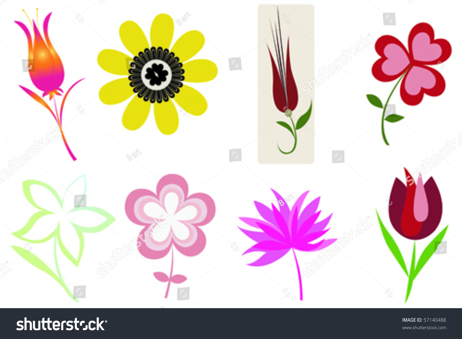 Symbols With Flowers