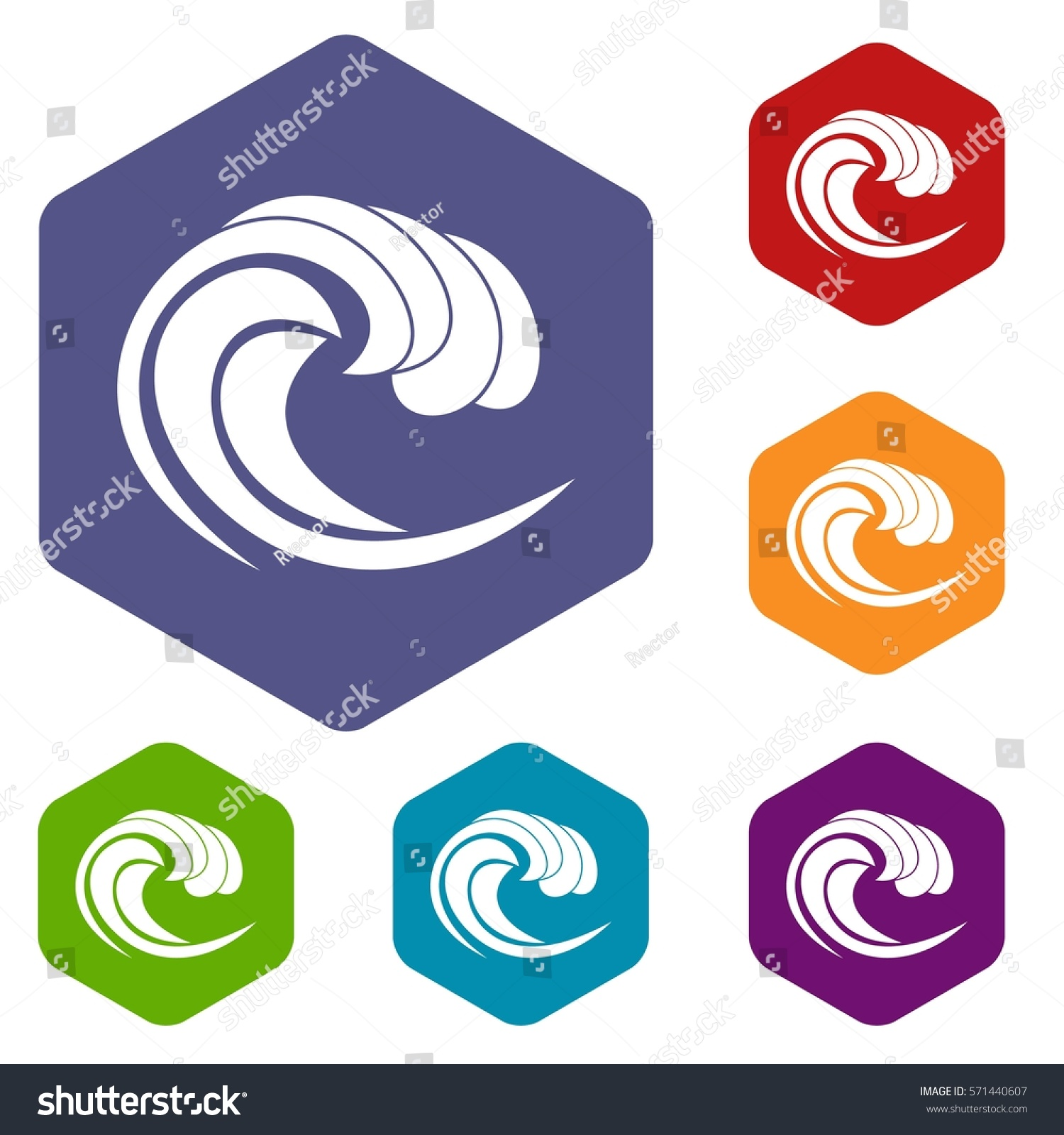 Wave sea tide icons set rhombus stock vector 571440607 shutterstock wave of sea tide icons set rhombus in different colors isolated on white background biocorpaavc